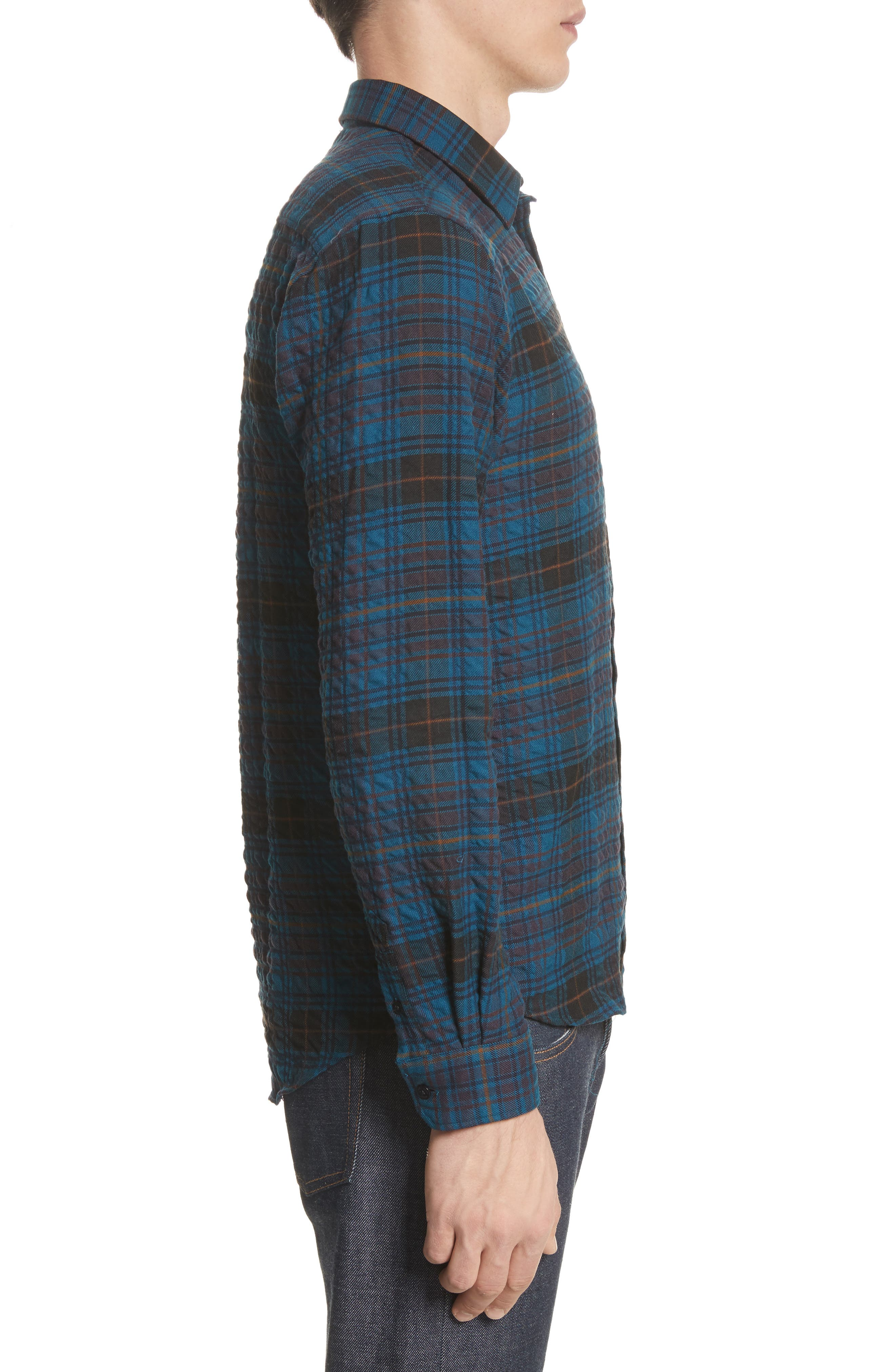 Osvald Textured Check Flannel Shirt,                             Alternate thumbnail 4, color,                             411
