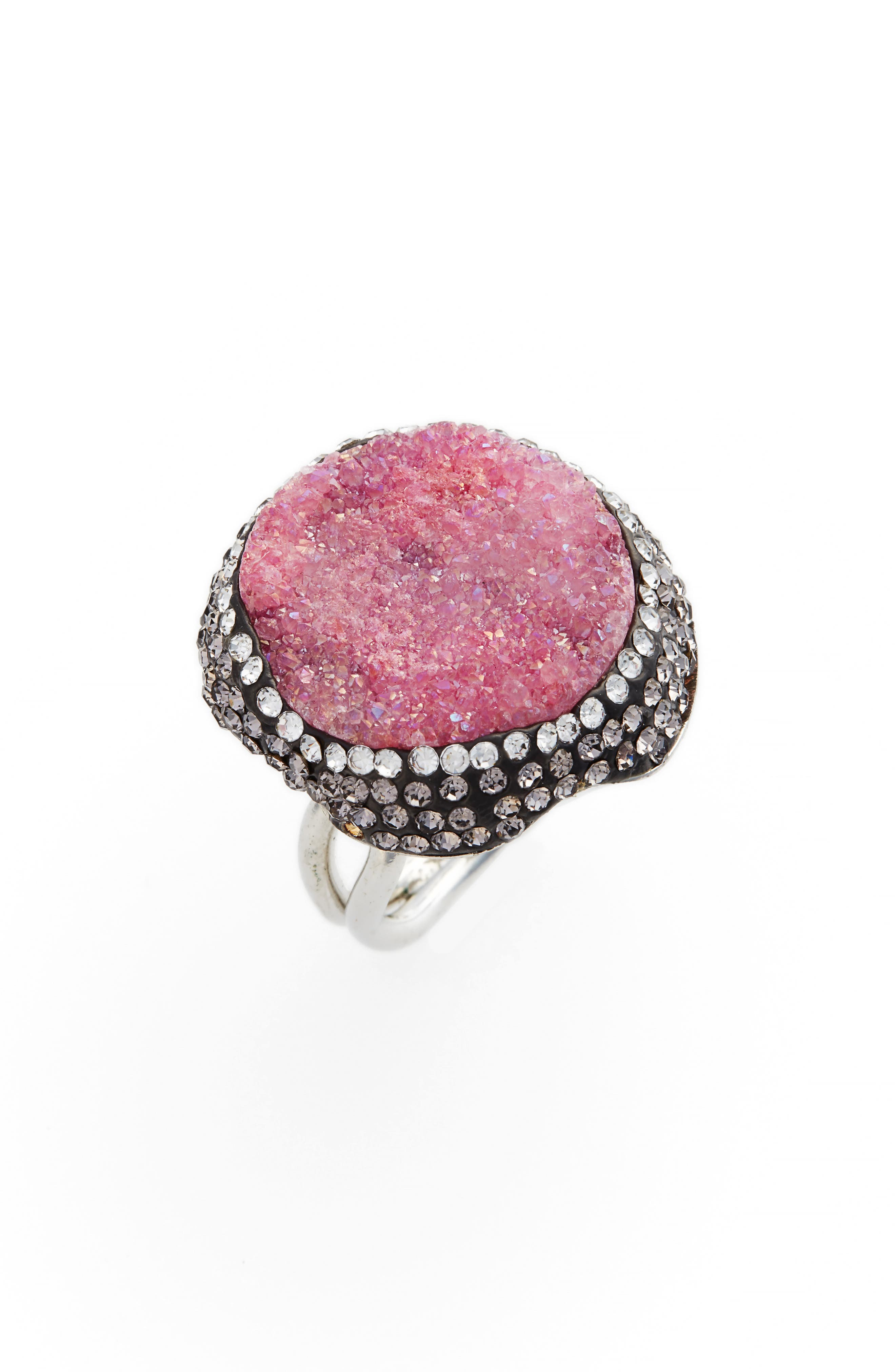 Goddess Drusy & Crystal Ring,                             Main thumbnail 3, color,