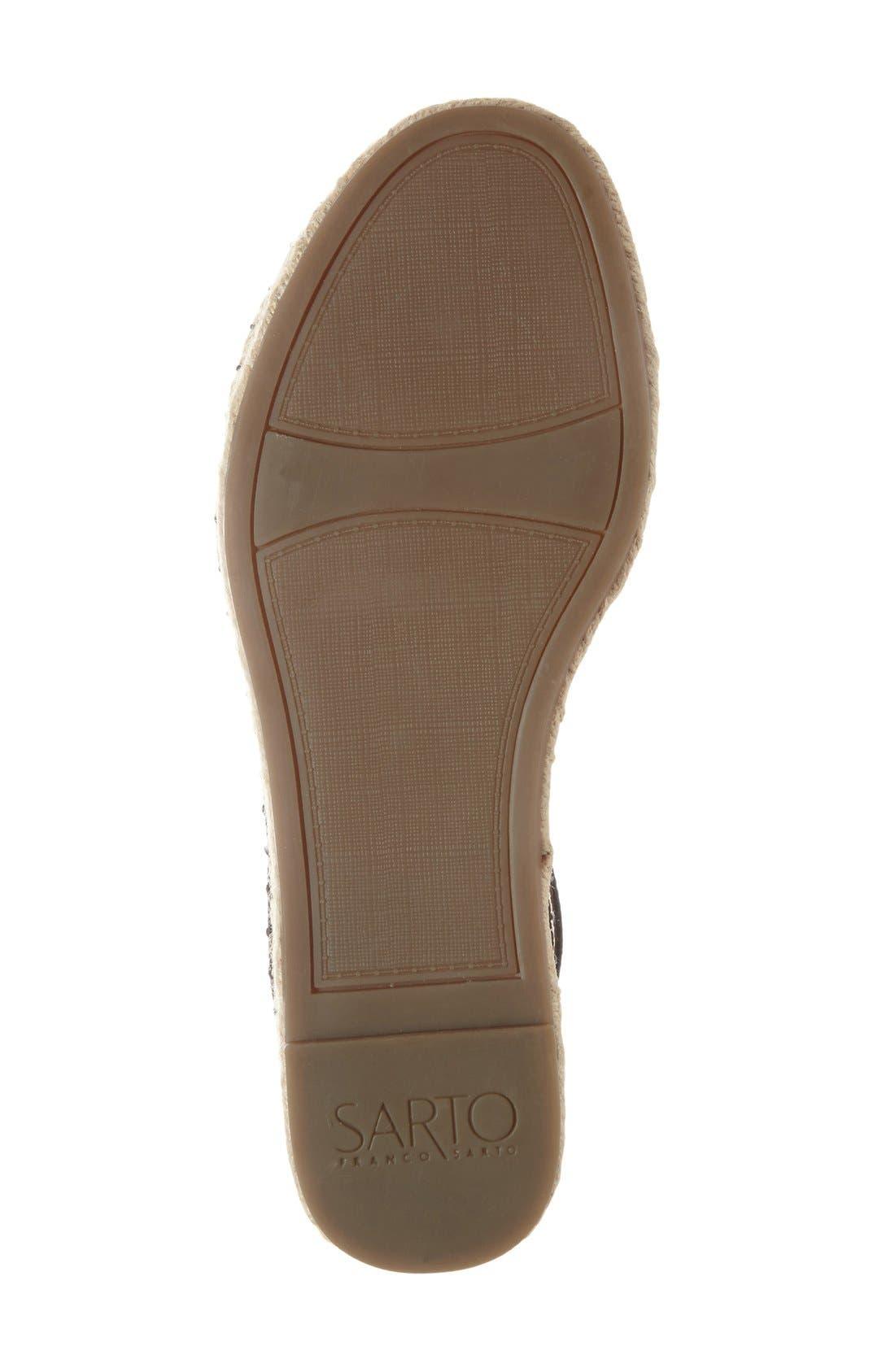 'Ravenna' Espadrille Platform Sandal,                             Alternate thumbnail 4, color,                             003