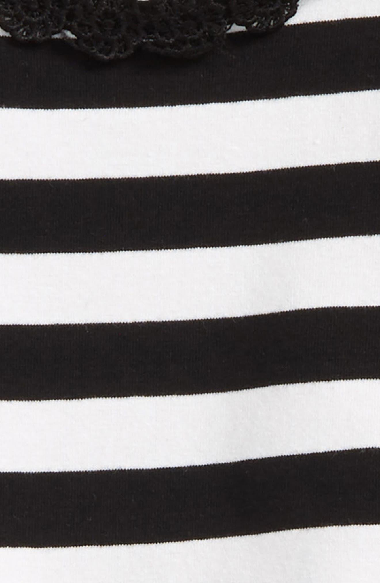 stripe peplum top & leggings set,                             Alternate thumbnail 2, color,                             104