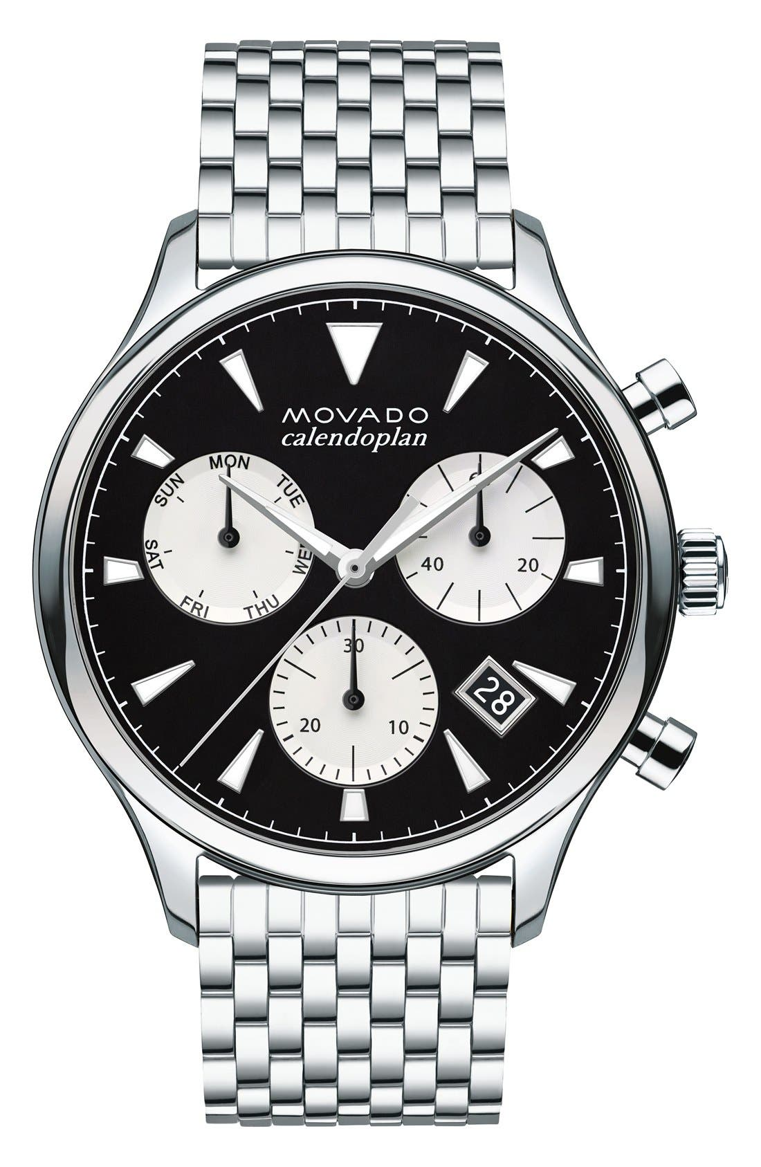 Heritage Chronograph Bracelet Watch, 43mm,                             Main thumbnail 1, color,                             041