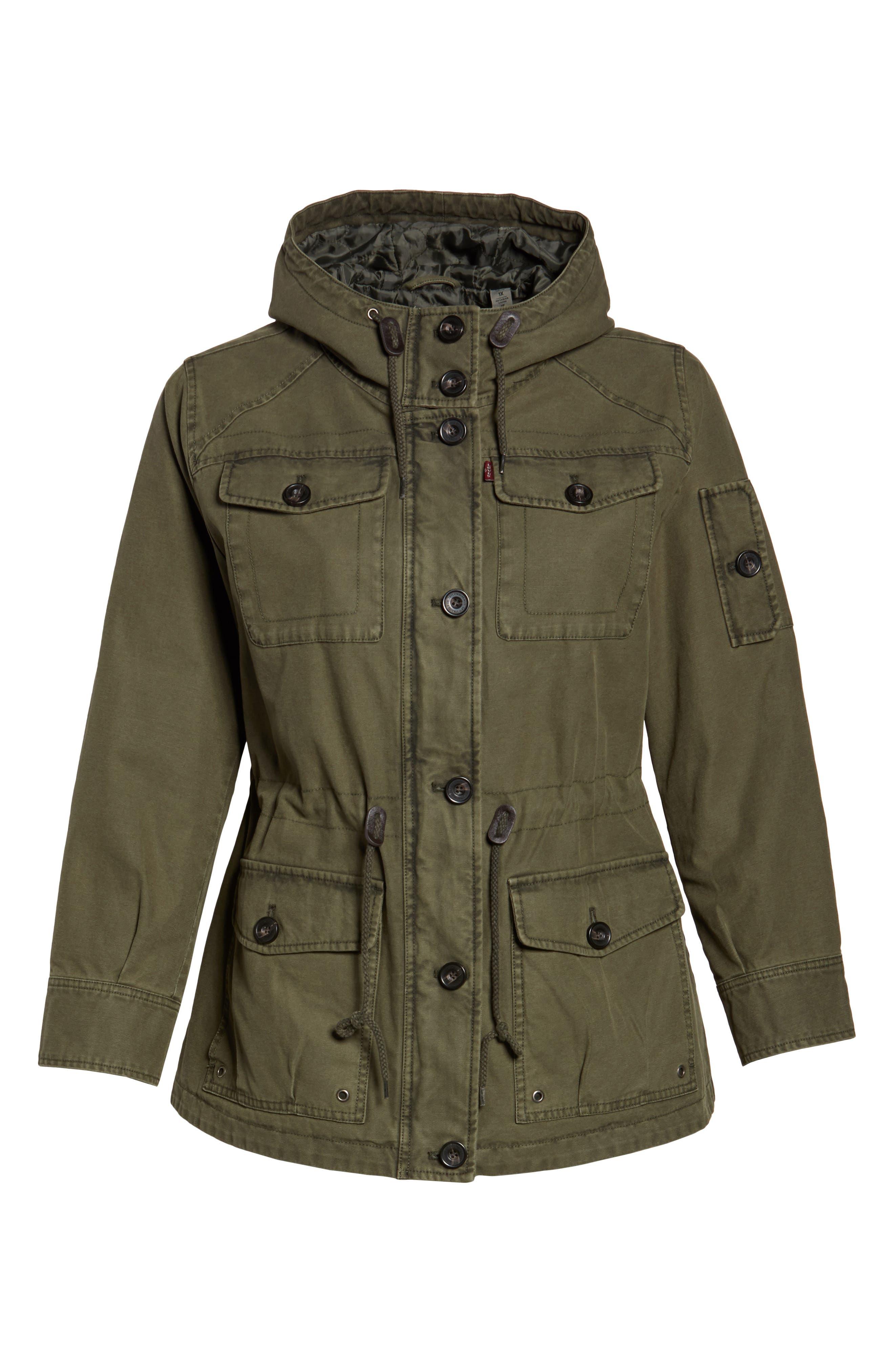 Hooded Cotton Utility Jacket,                             Alternate thumbnail 15, color,