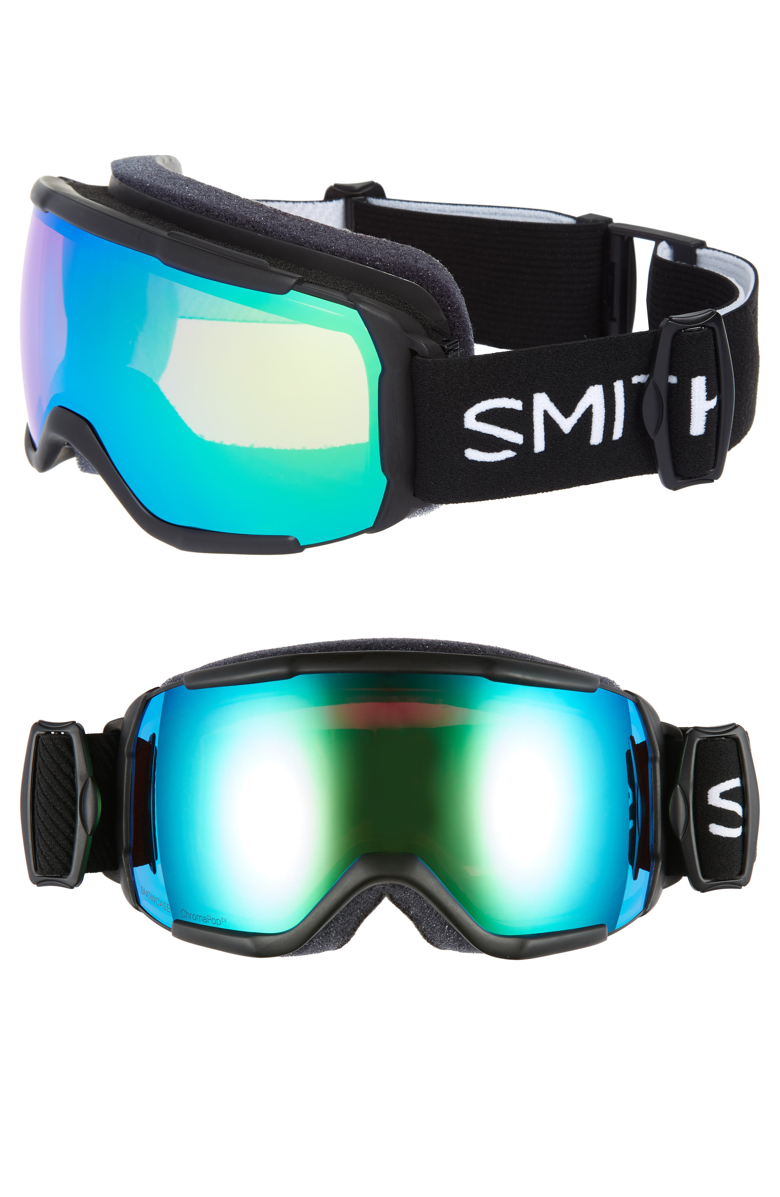 Showcase Over the Glass ChromaPop<sup>™</sup> 182mm Goggles,                             Main thumbnail 1, color,                             BLACK