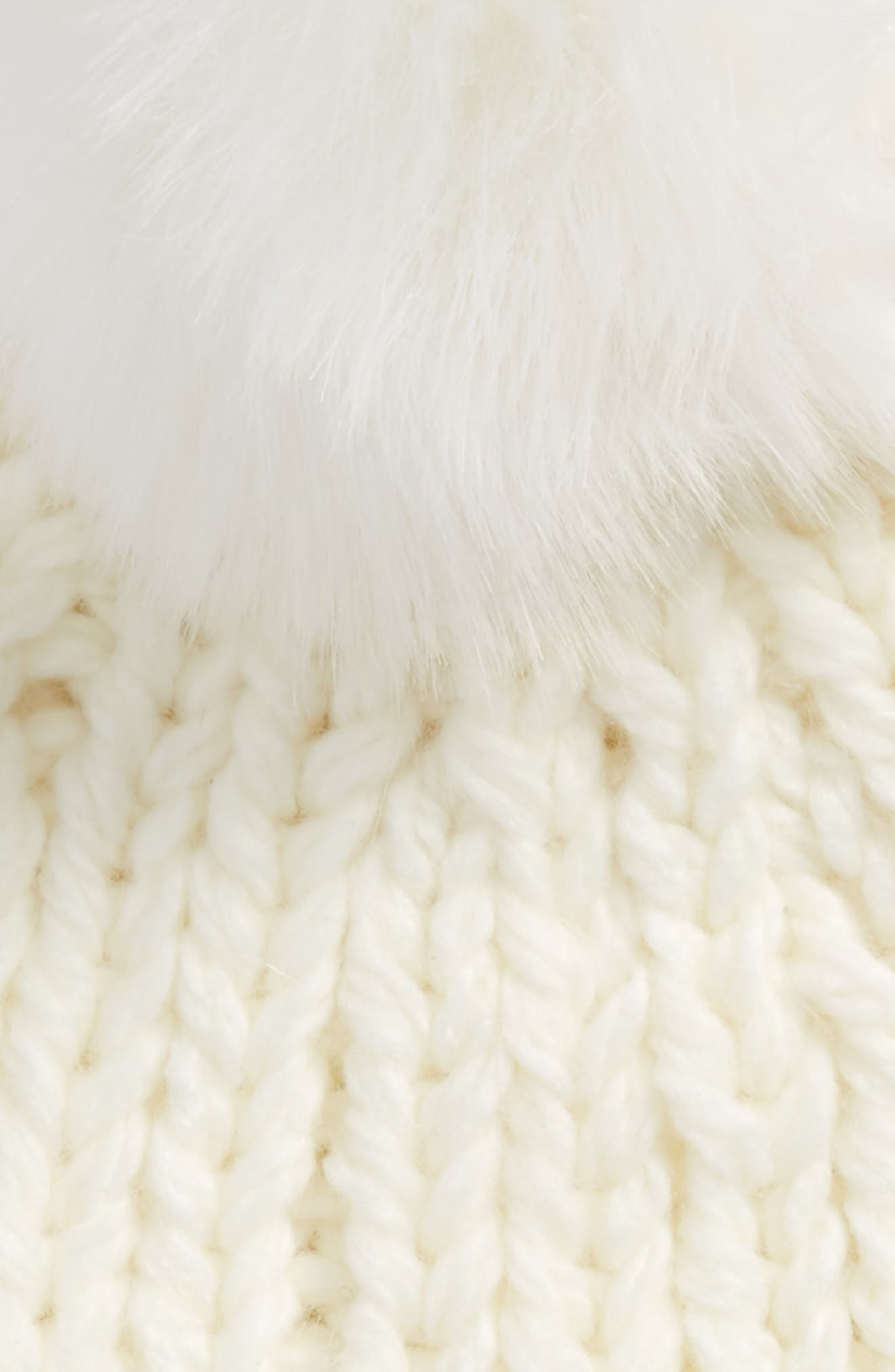 Happy Trails Faux Fur Pom Beanie,                             Alternate thumbnail 8, color,