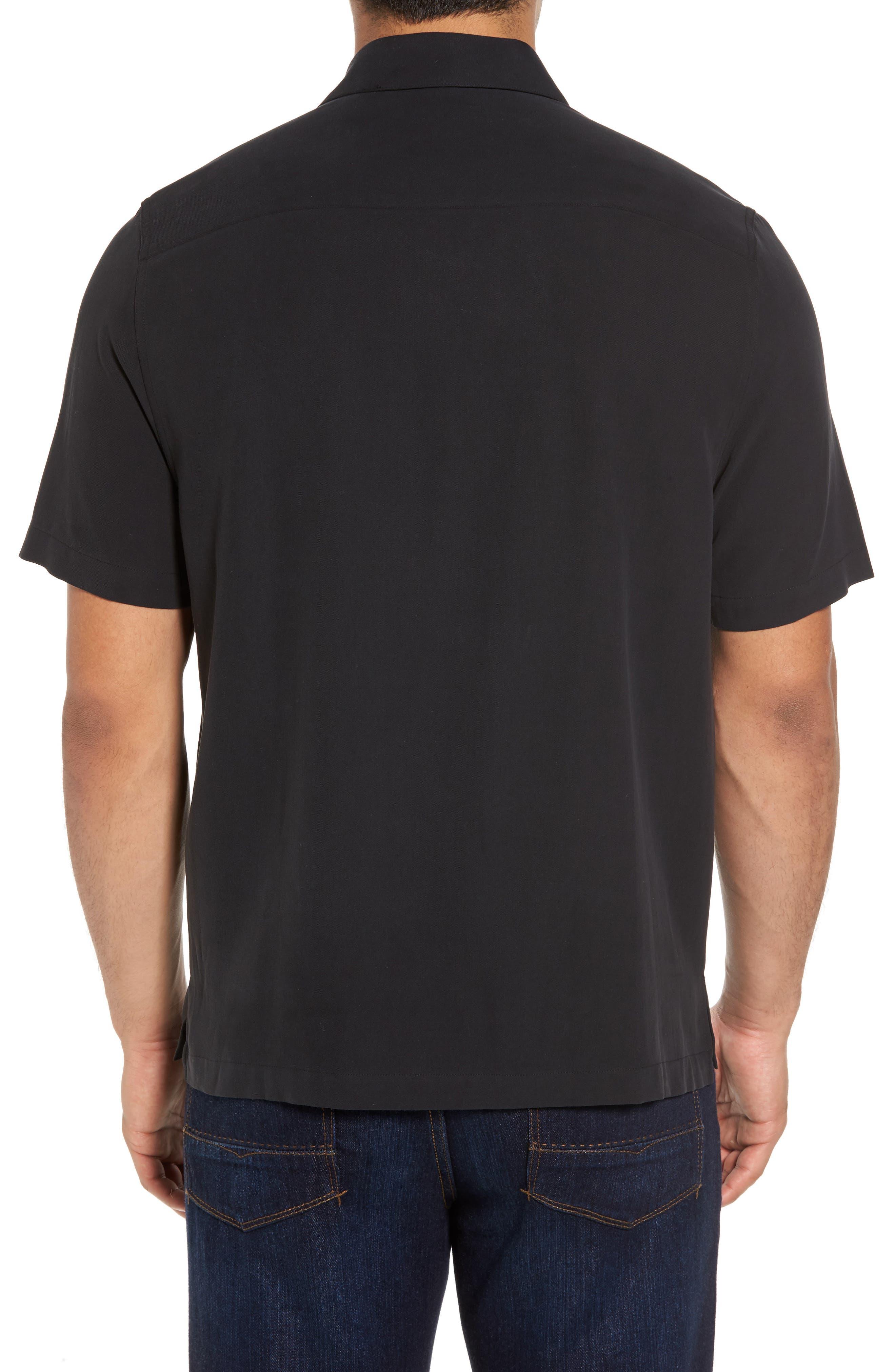 Regular Fit Embroidered Silk Sport Shirt,                             Alternate thumbnail 2, color,