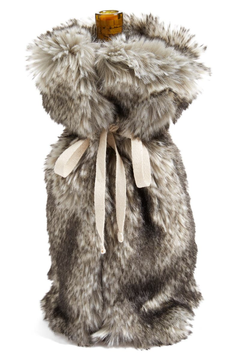 Nordstrom at Home  Cuddle Up  Faux Fur Wine Bag   Nordstrom e1f7efb45e