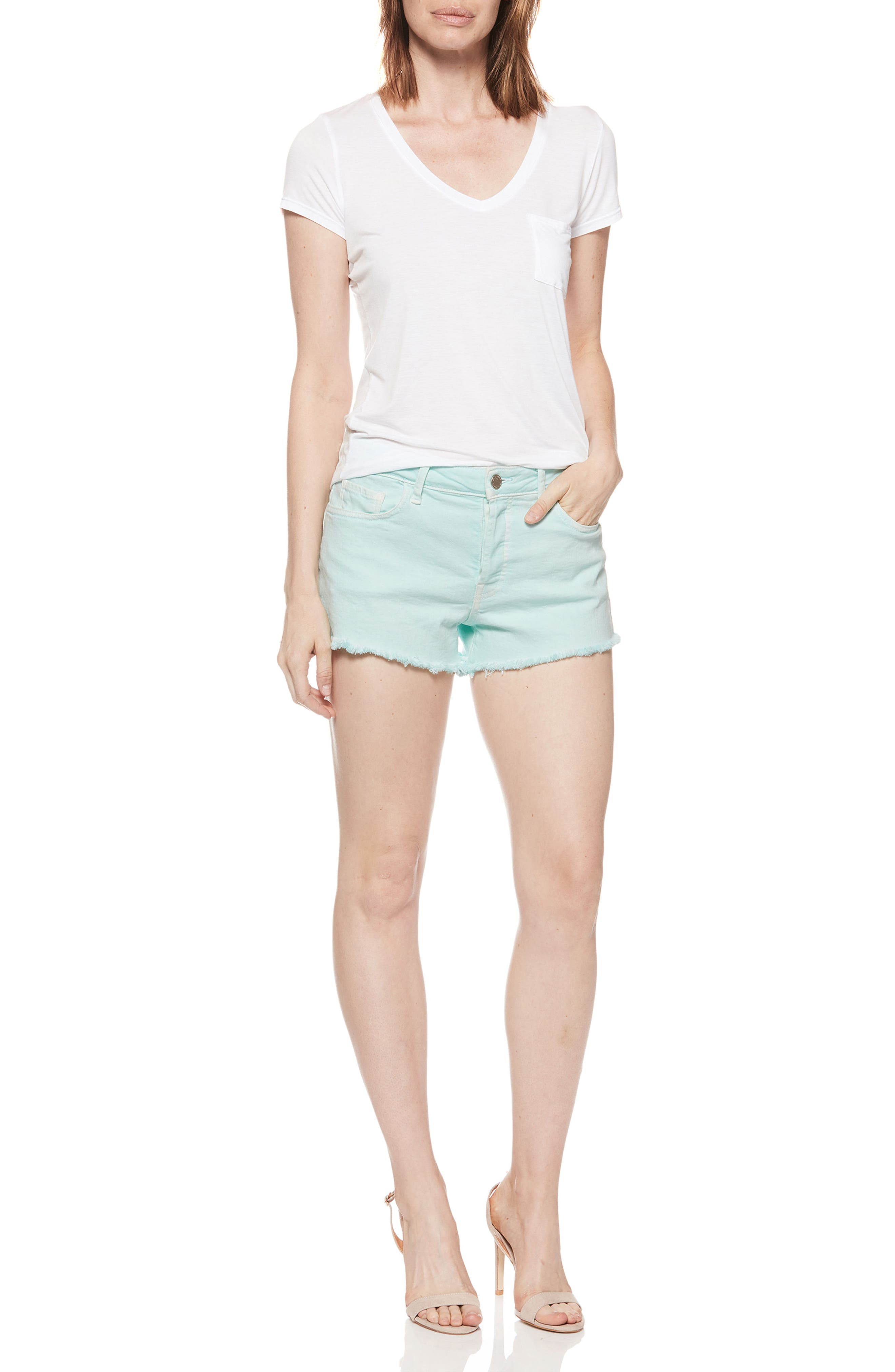 Emmit Relaxed Denim Shorts,                             Alternate thumbnail 6, color,                             430