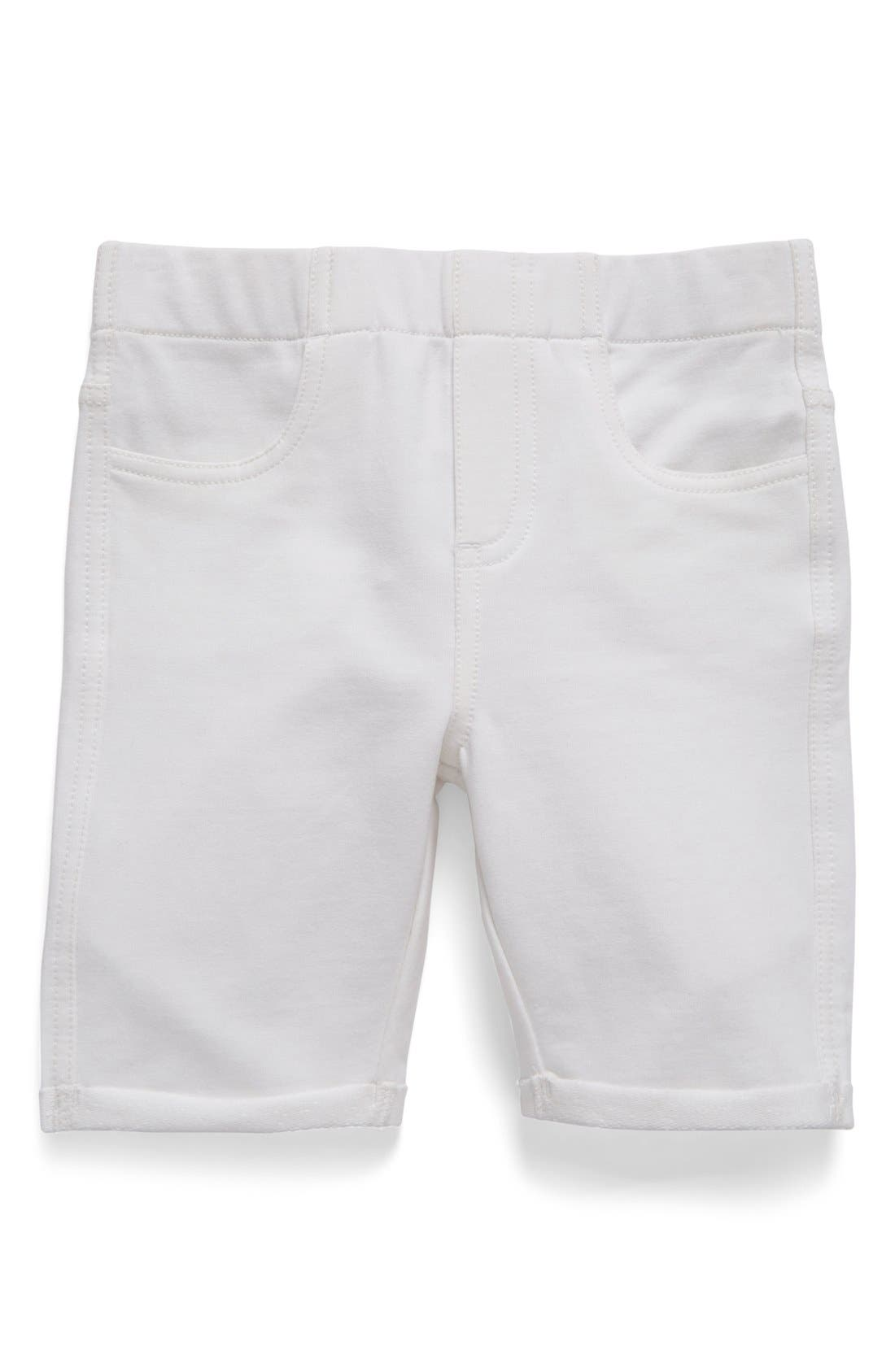 'Jenna' Jegging Shorts,                             Main thumbnail 1, color,                             WHITE