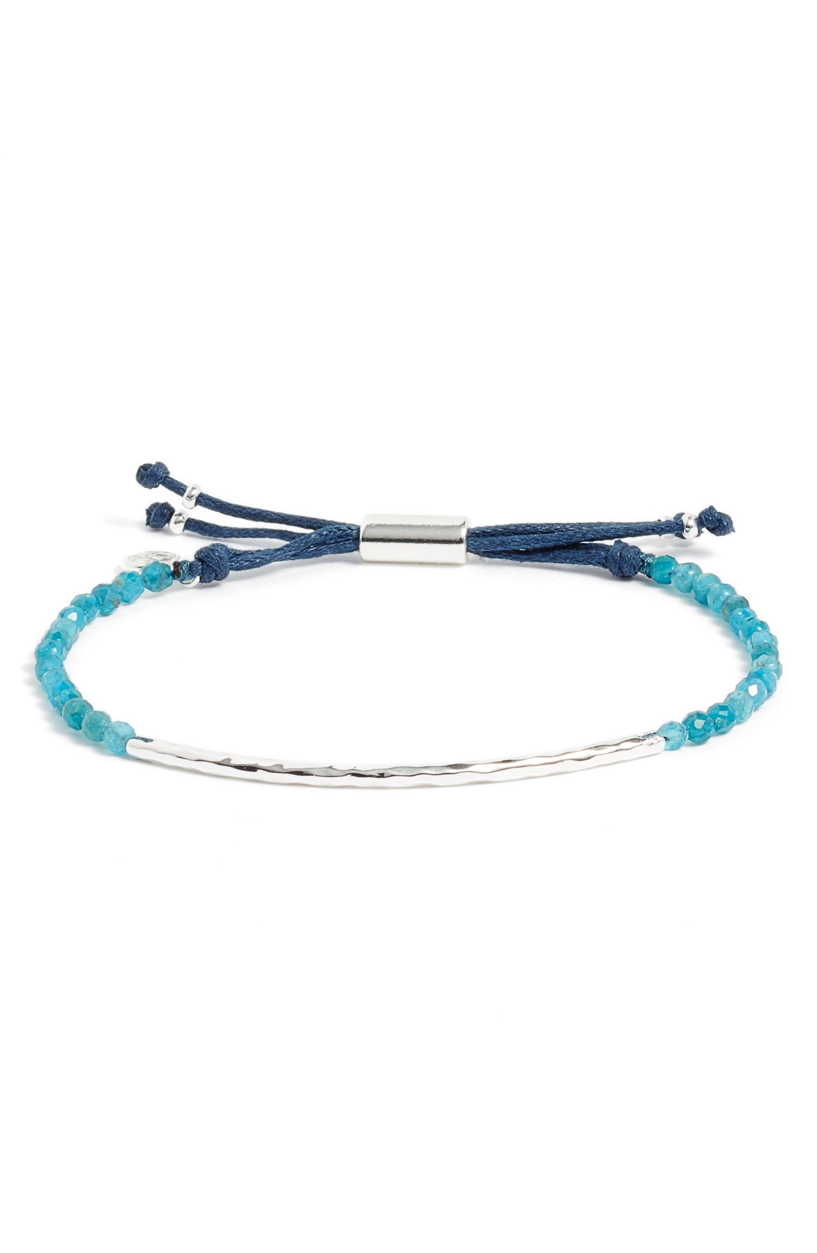 Inspiration Gemstone Bracelet,                             Main thumbnail 1, color,                             APATITE/ SILVER