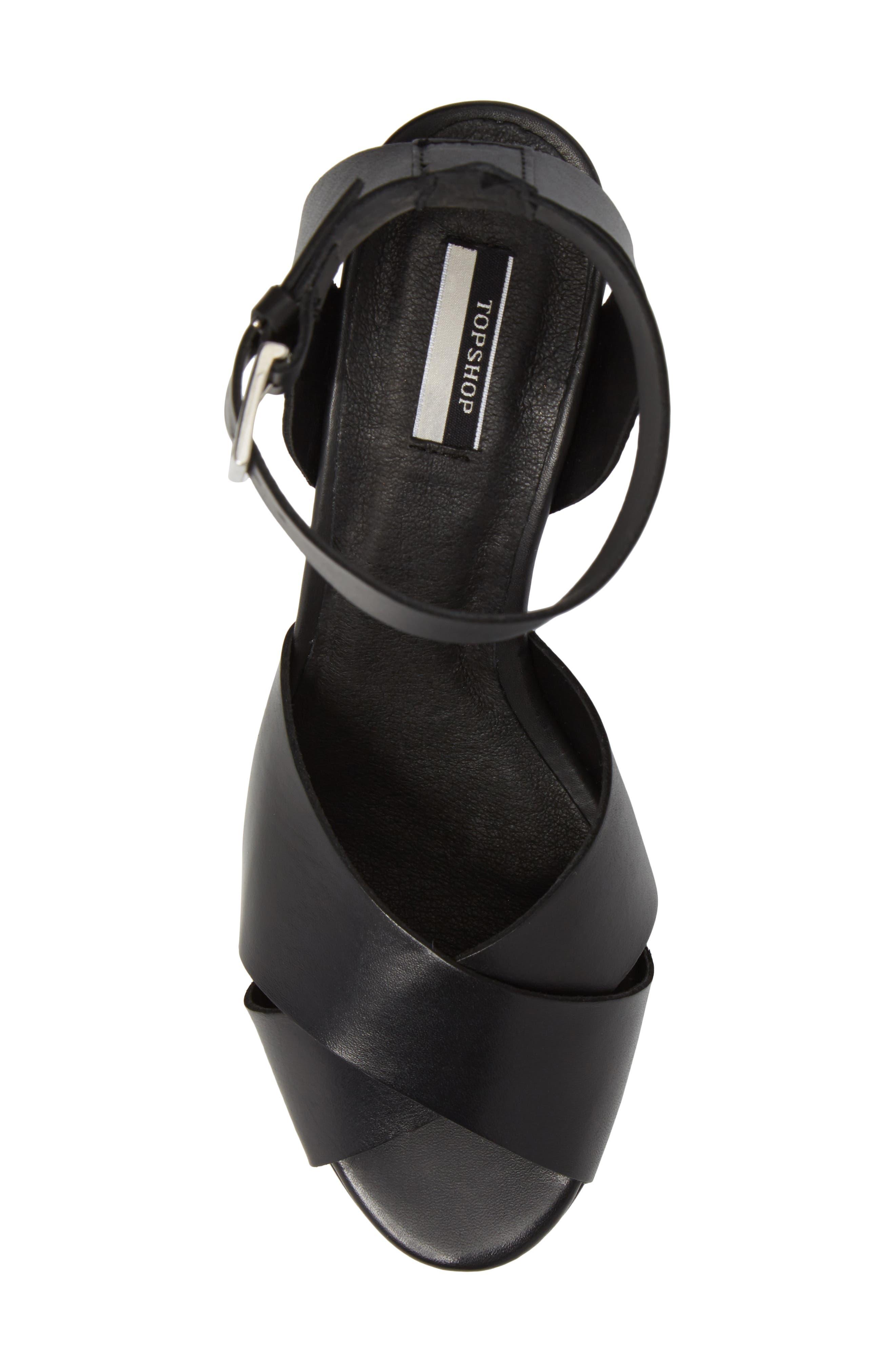 Nazia Statement Heel Sandal,                             Alternate thumbnail 5, color,                             001