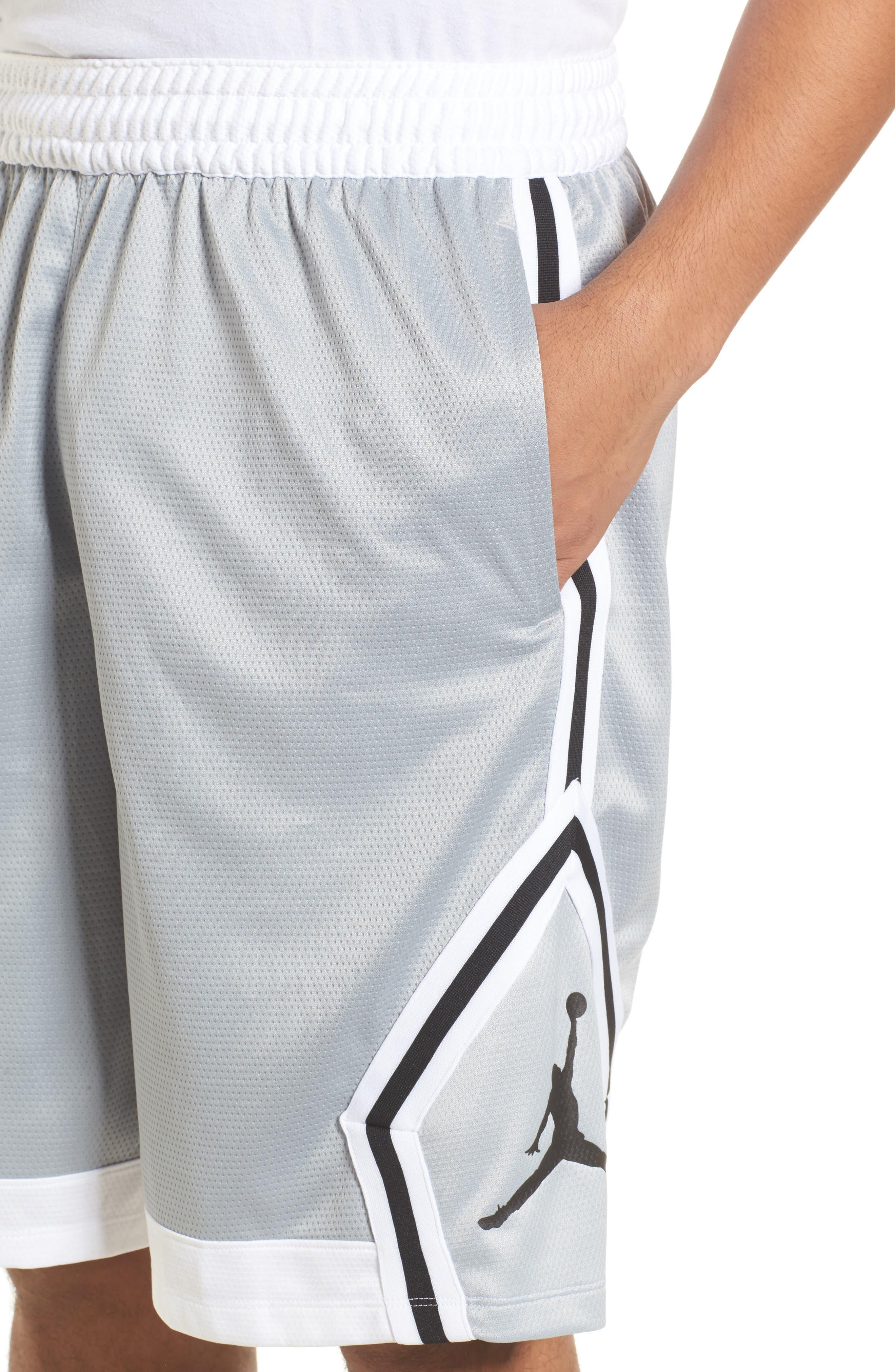 Sportswear Rise Diamond Shorts,                             Alternate thumbnail 4, color,                             011
