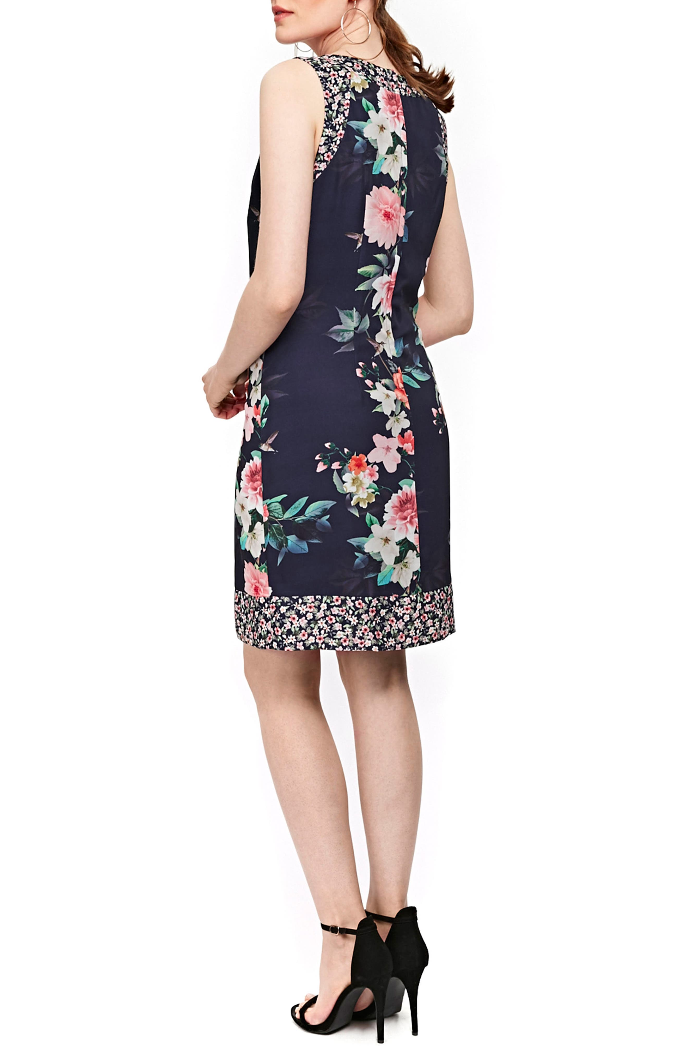 Peony Print Tank Dress,                             Alternate thumbnail 2, color,                             400