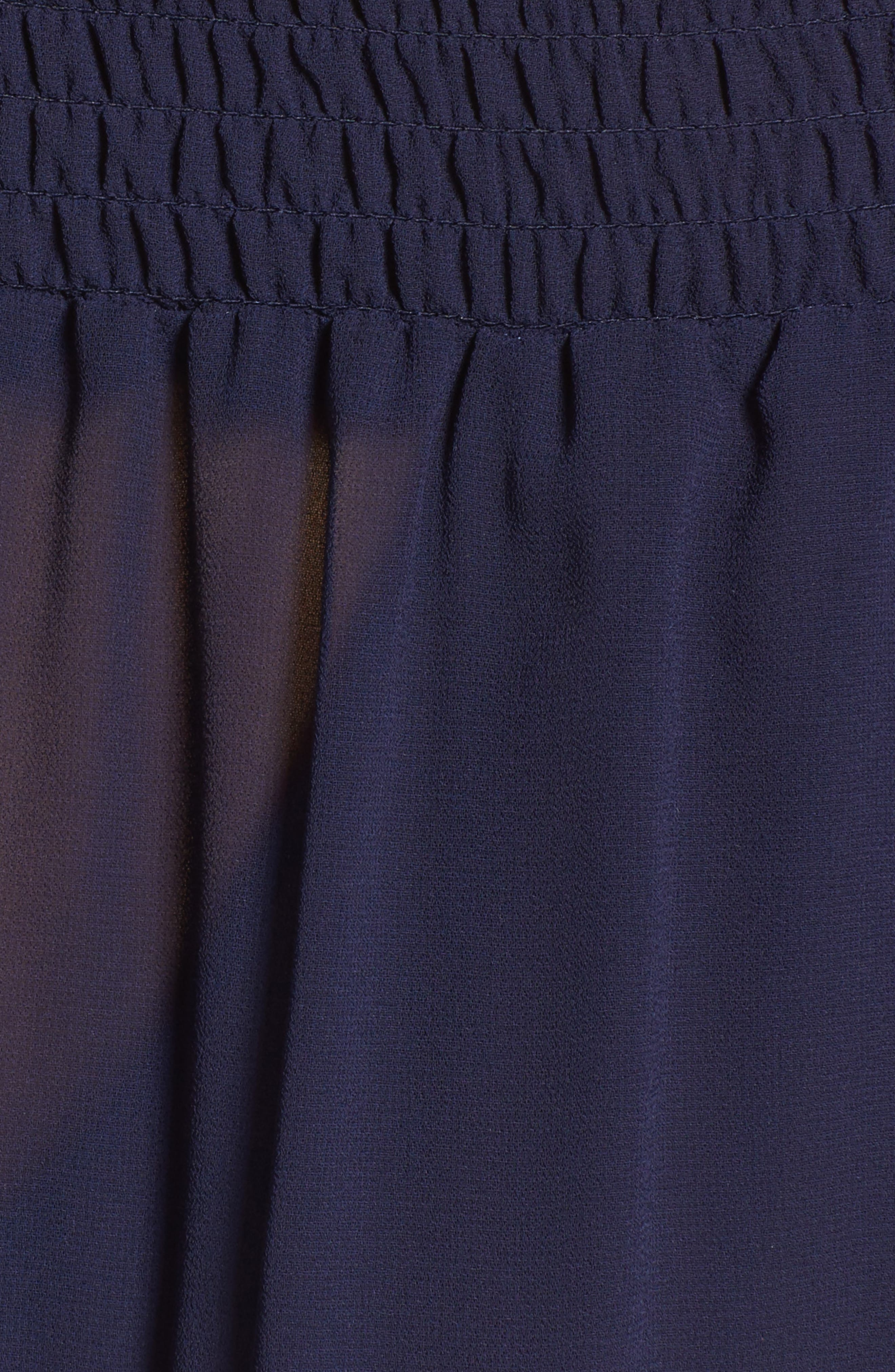 Off the Shoulder Popover Minidress,                             Alternate thumbnail 5, color,