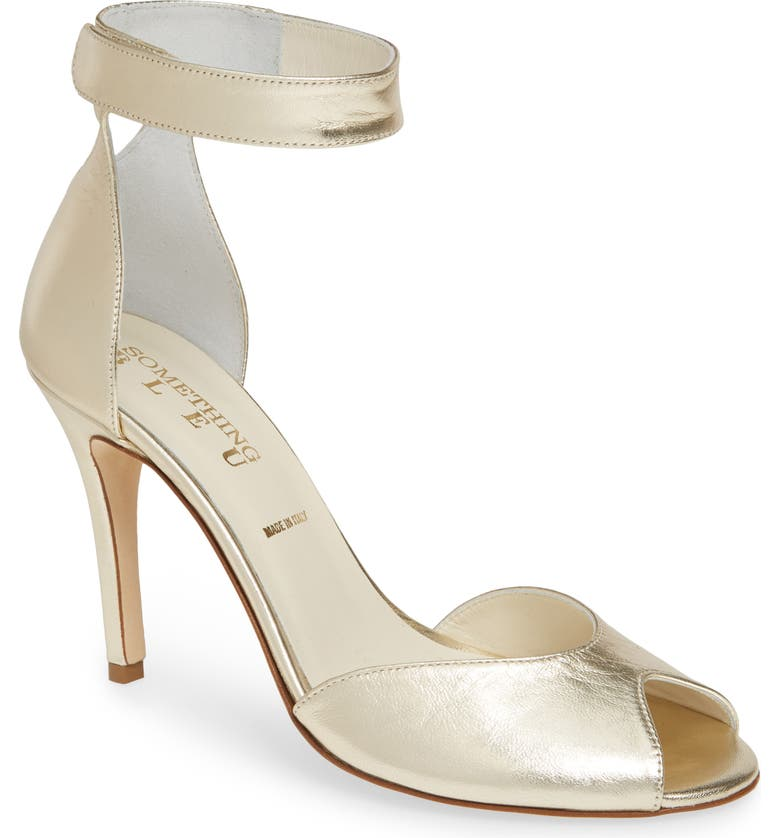 Harissa Metallic Ankle Strap Sandal, Main, color, PLATINUM NAPPA LUX