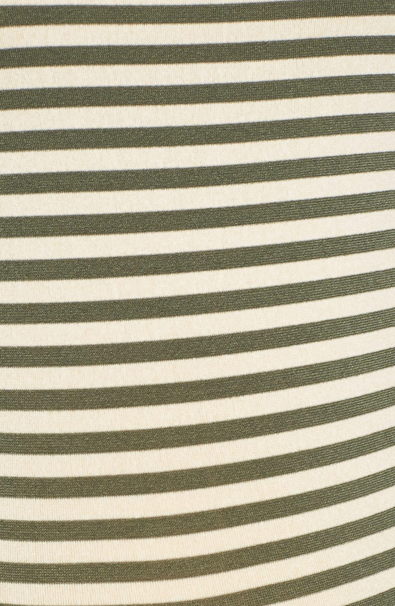 Micro Stripe Maternity Dress,                             Alternate thumbnail 5, color,                             300