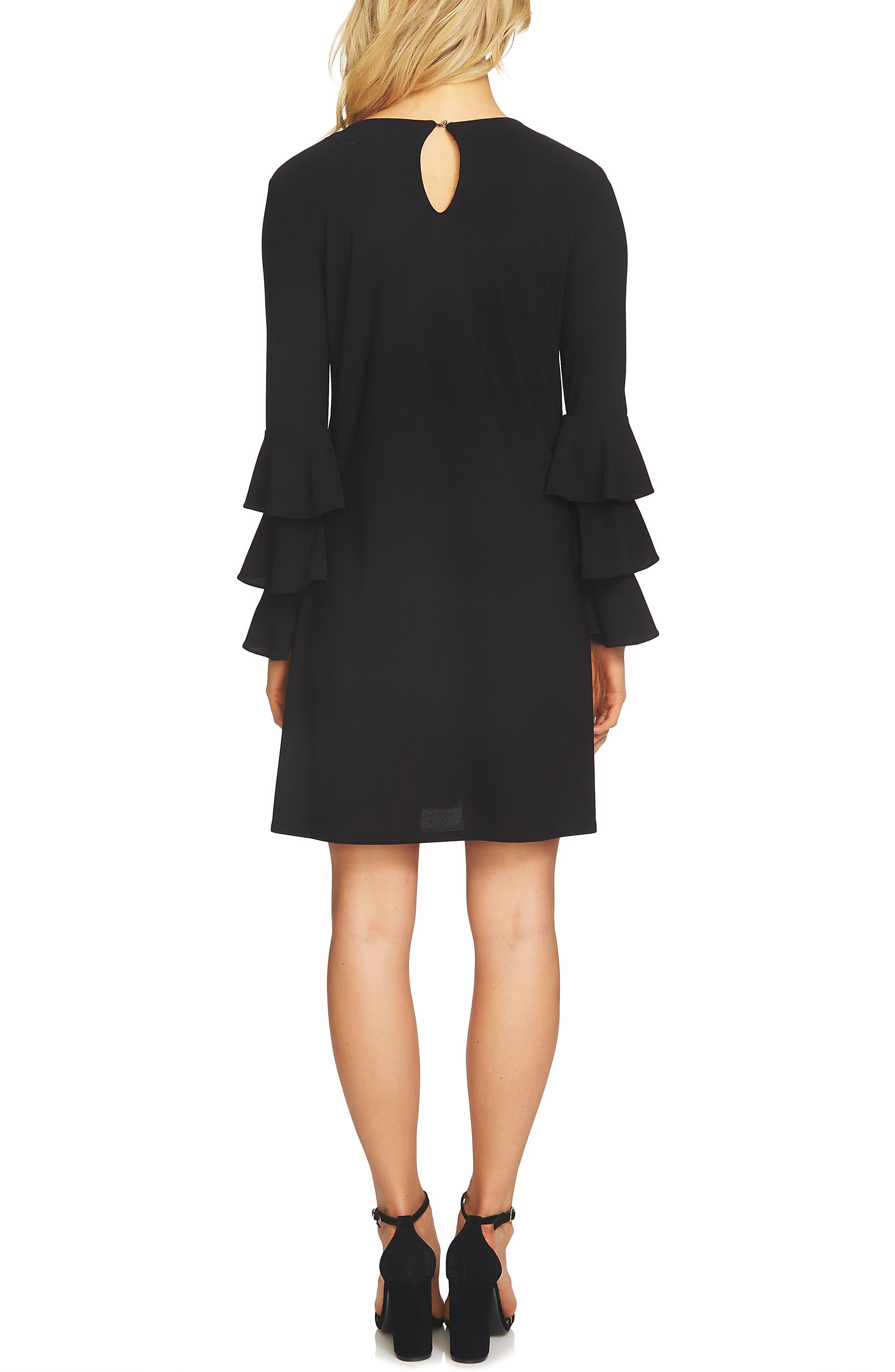 Ruffle Sleeve Dress,                             Alternate thumbnail 2, color,                             006