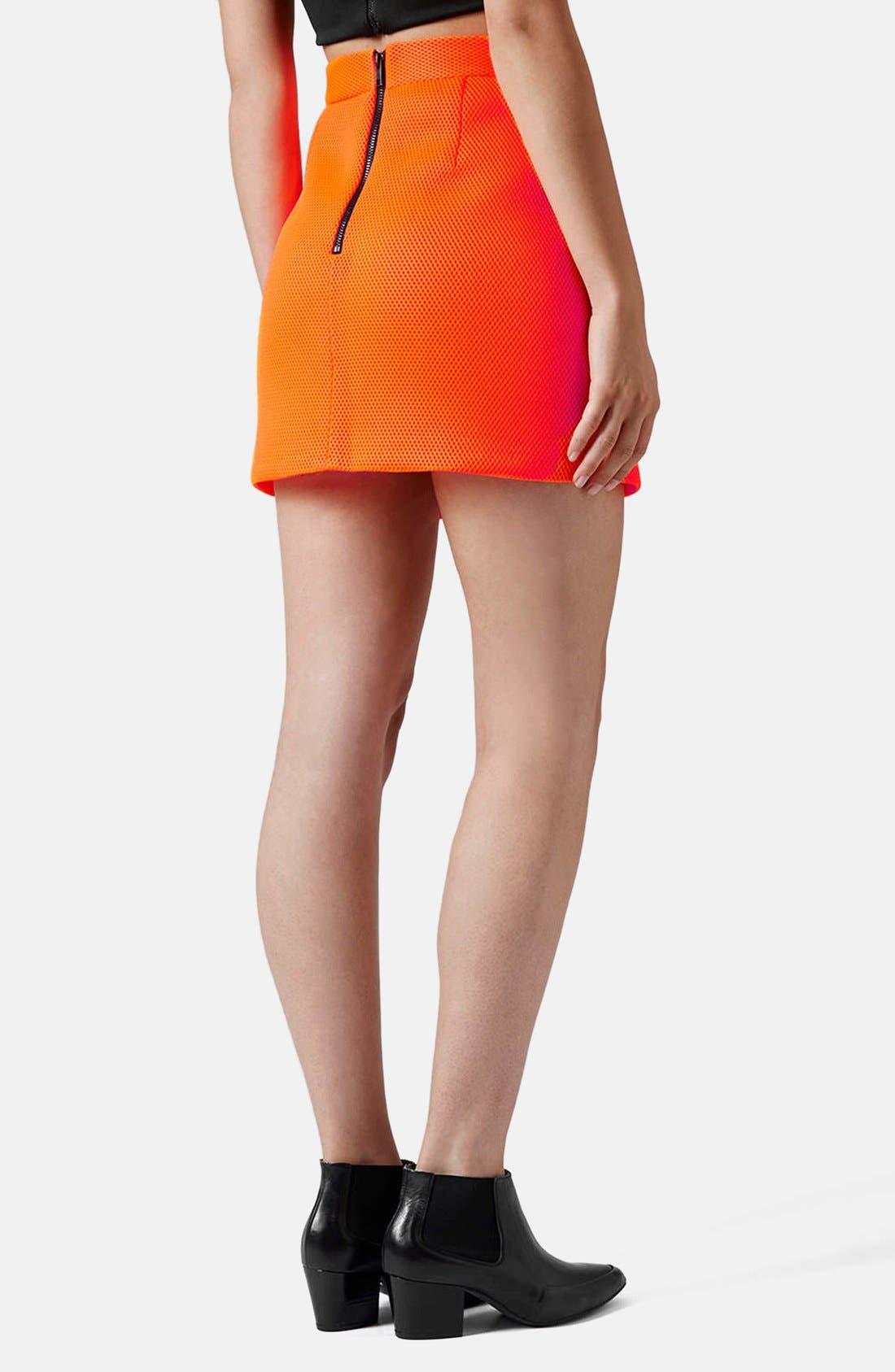 Airtex Miniskirt,                             Alternate thumbnail 4, color,