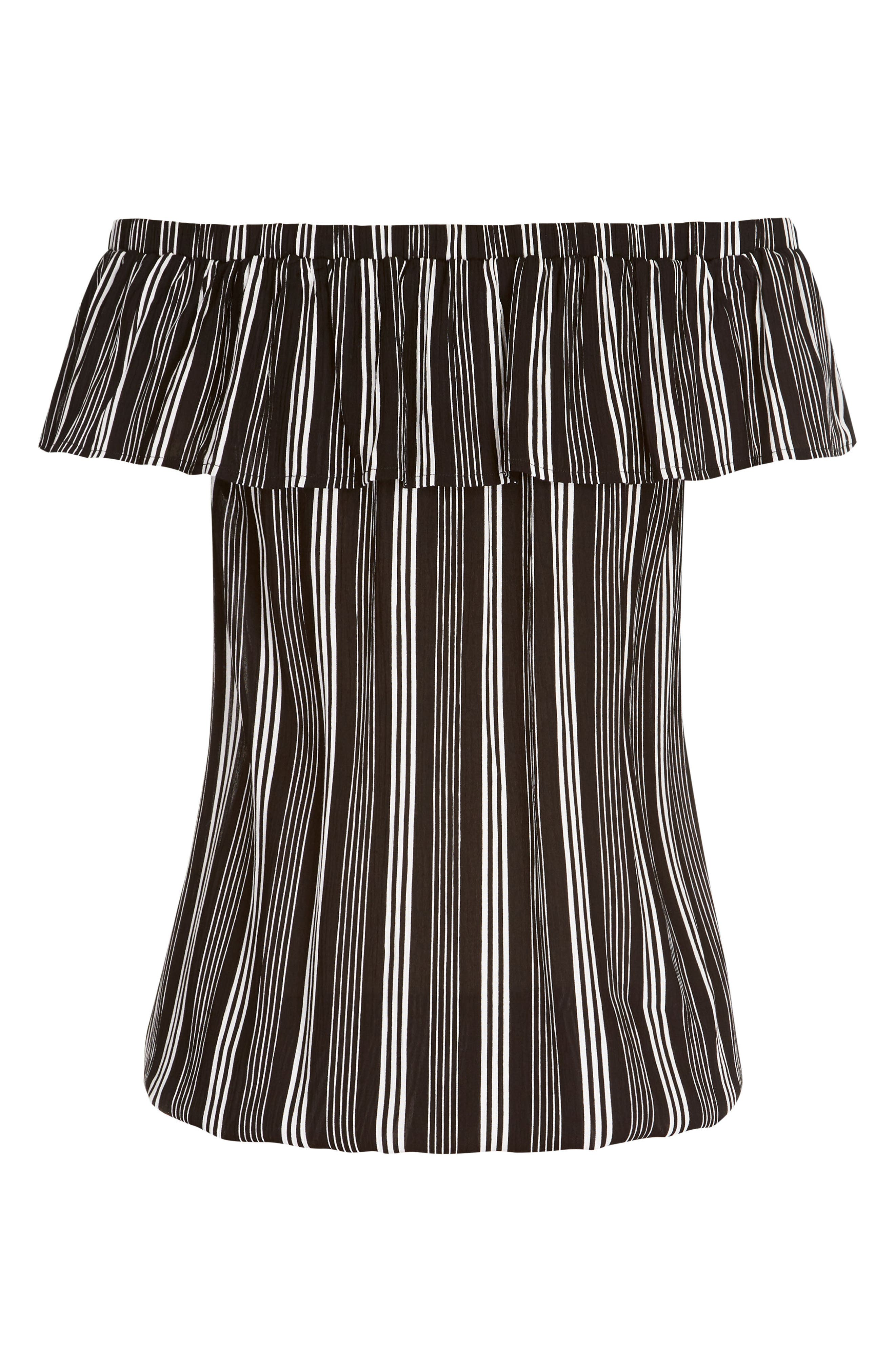 Stripe Play Off the Shoulder Top,                             Alternate thumbnail 3, color,                             STRIPE PLAY