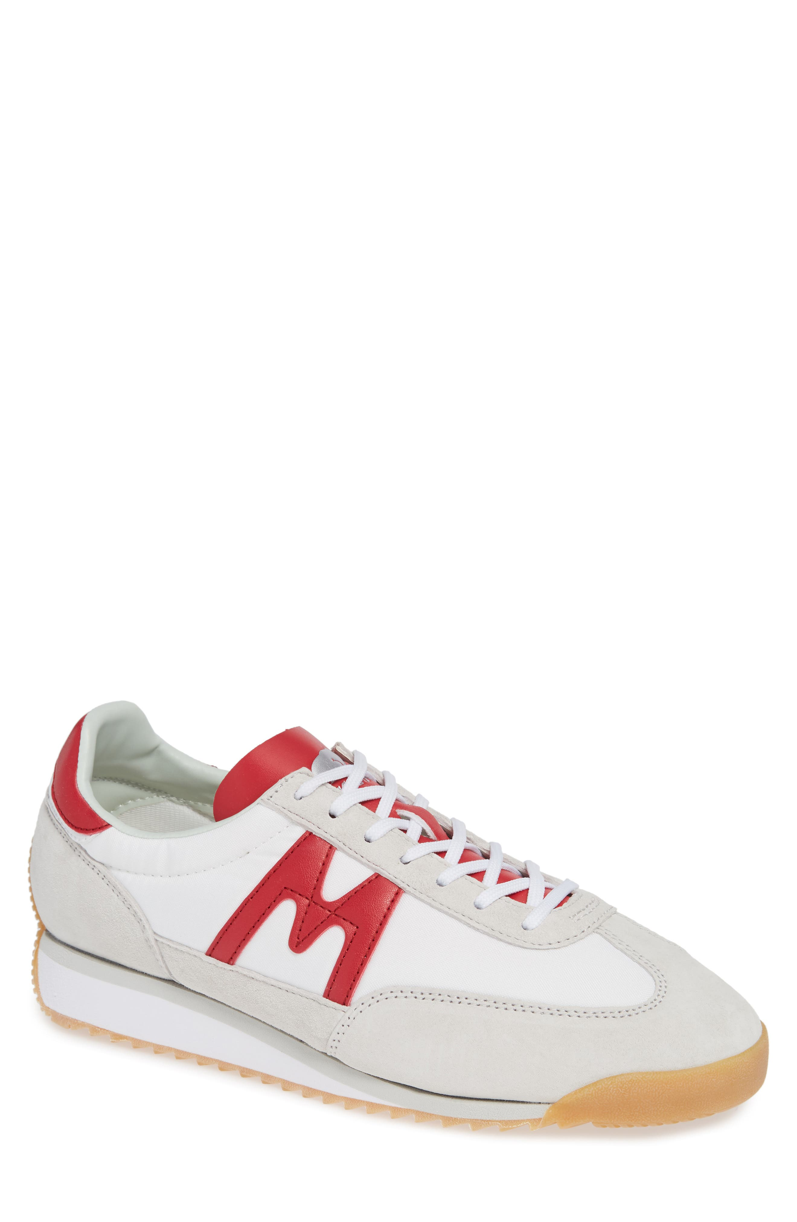 KARHU Men'S Championair Lace-Up Sneakers in Bright White / Racing Red