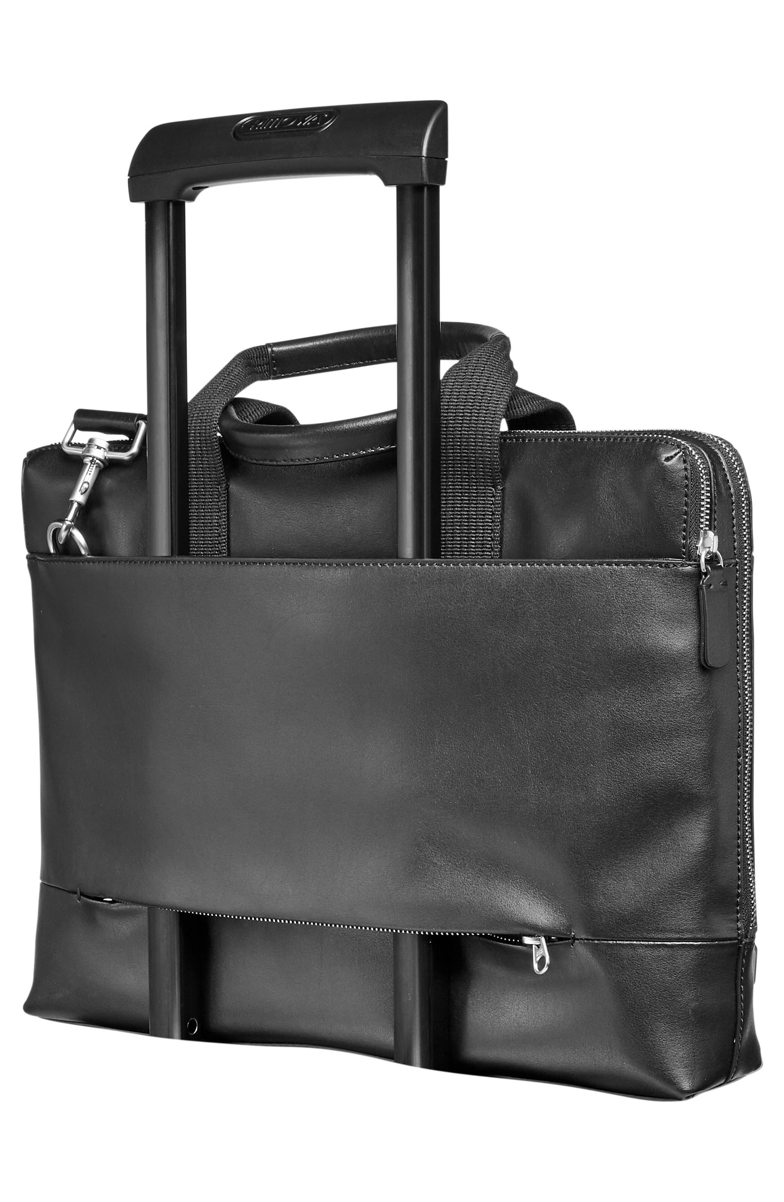 Peder Leather Briefcase,                             Alternate thumbnail 2, color,                             001