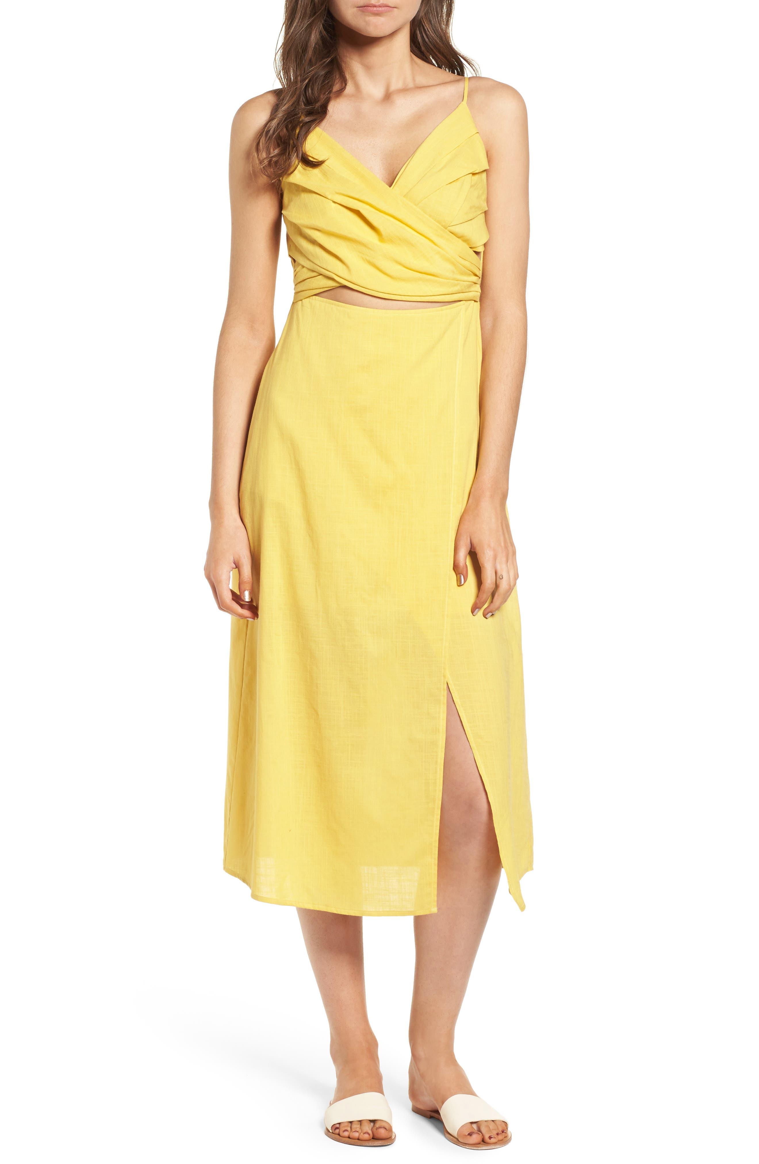 Cutout Midi Dress,                             Main thumbnail 1, color,                             700