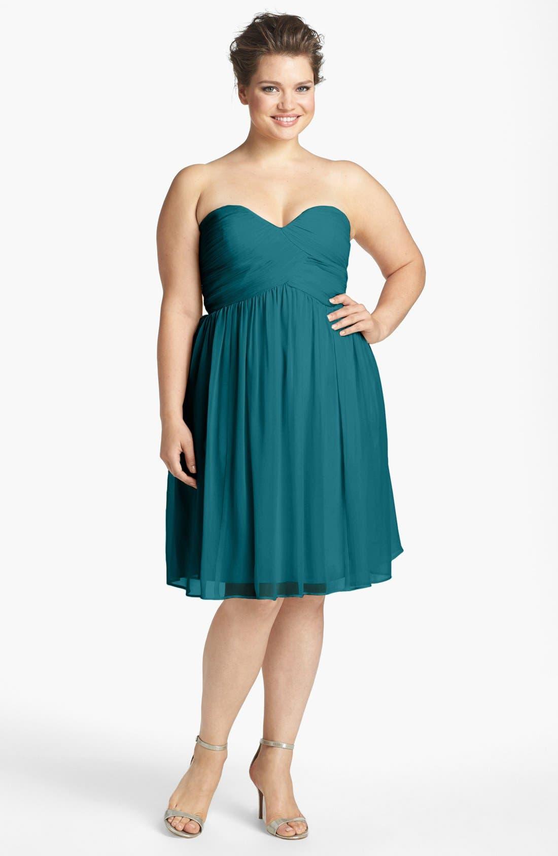 'Morgan' Strapless Silk Chiffon Dress,                             Alternate thumbnail 113, color,