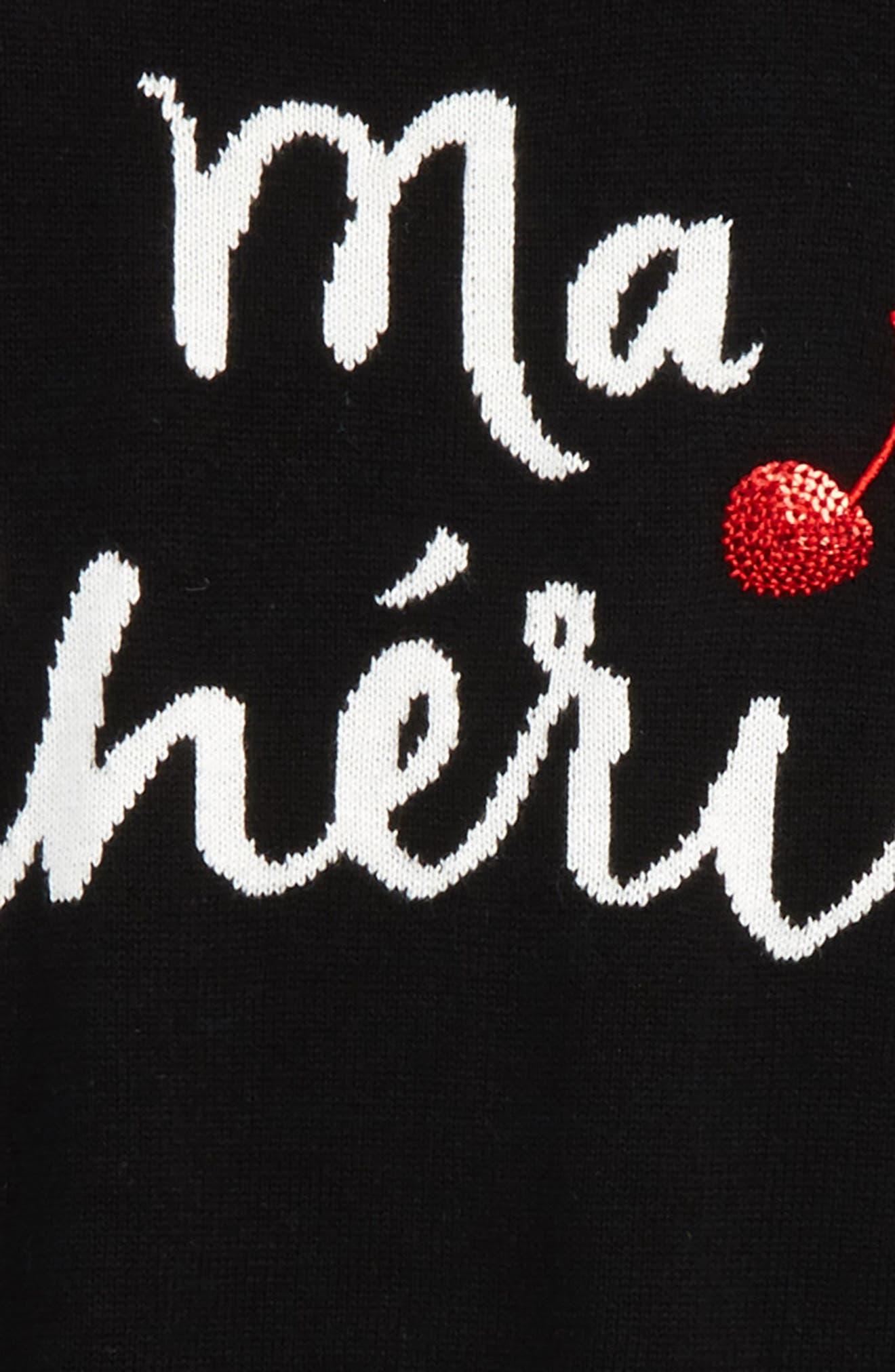 ma cherie intasrsia sweater,                             Alternate thumbnail 2, color,                             001