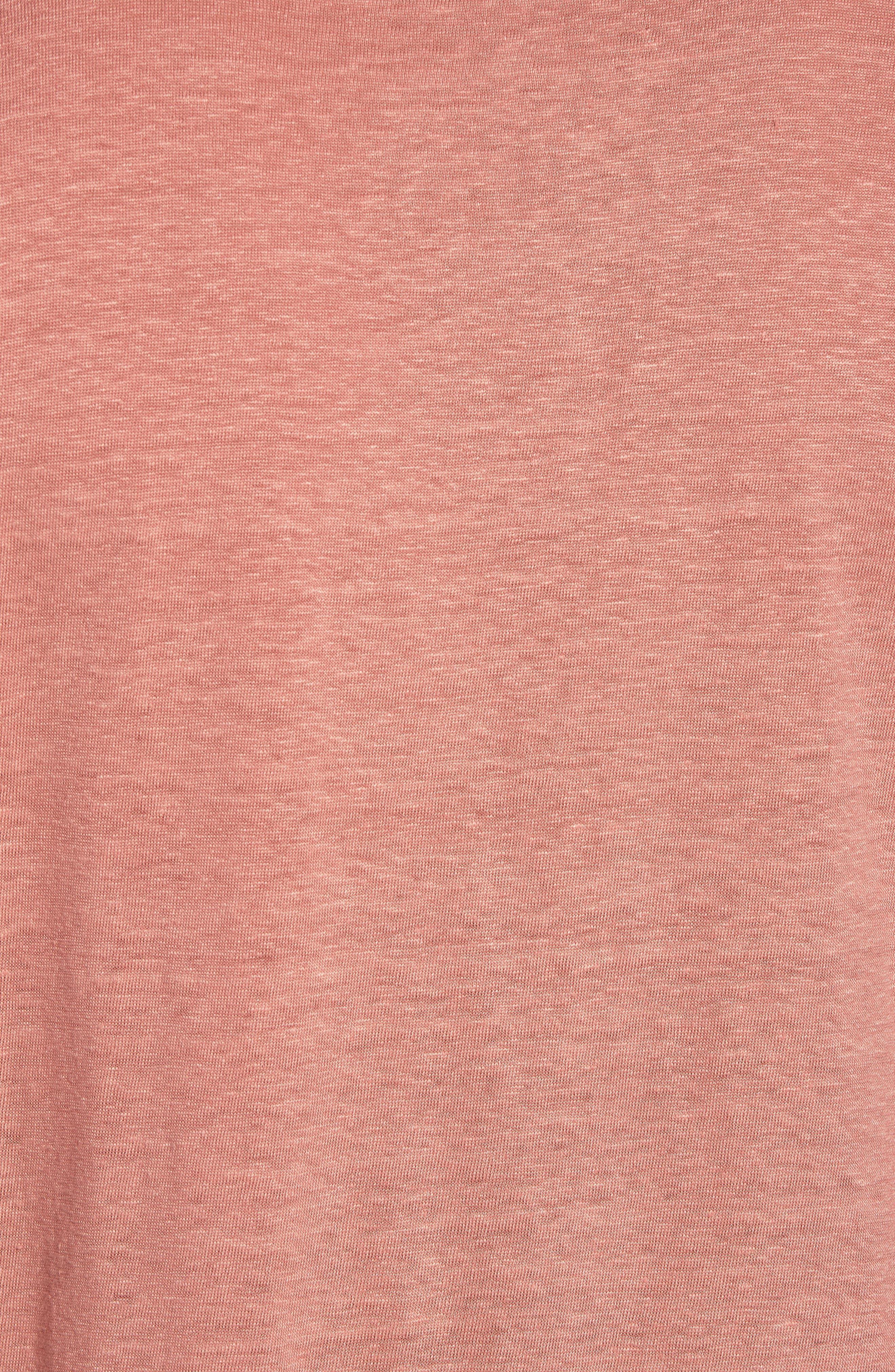 Hugo Boss Tiburt Linen T-Shirt,                             Alternate thumbnail 5, color,                             631
