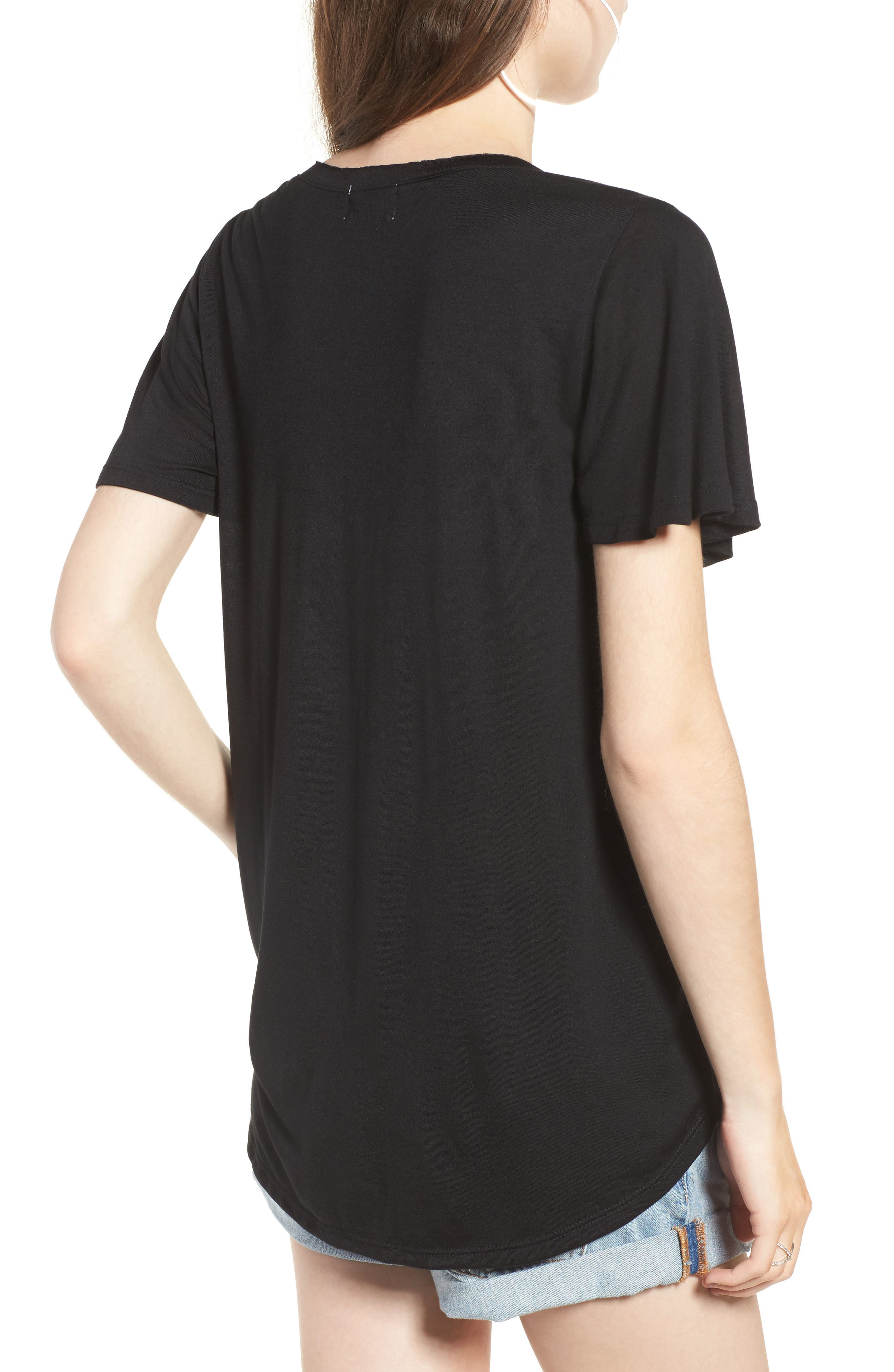 Cross Front Tee,                             Alternate thumbnail 2, color,                             001