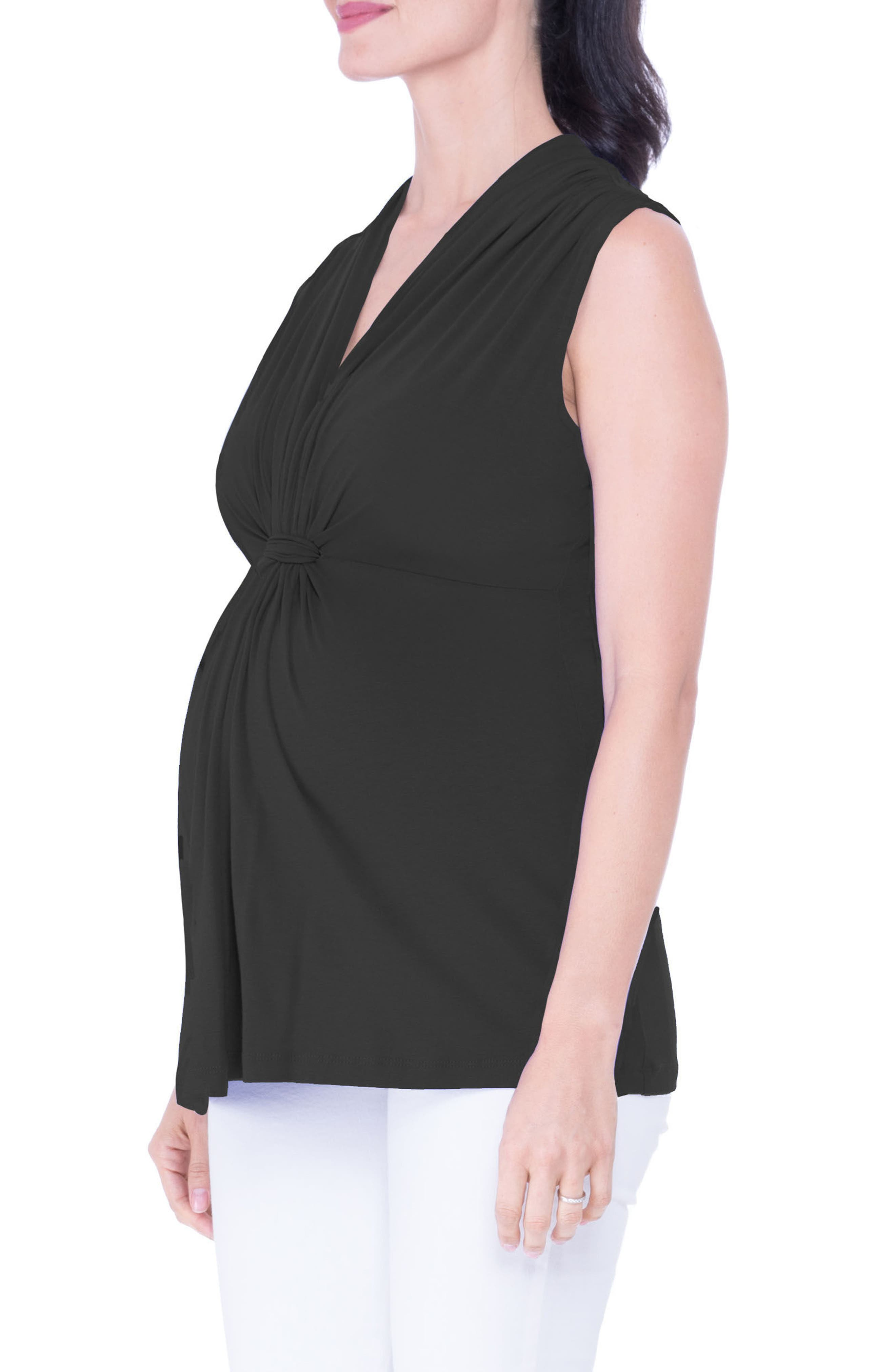 Knot Maternity Top,                             Alternate thumbnail 3, color,                             001
