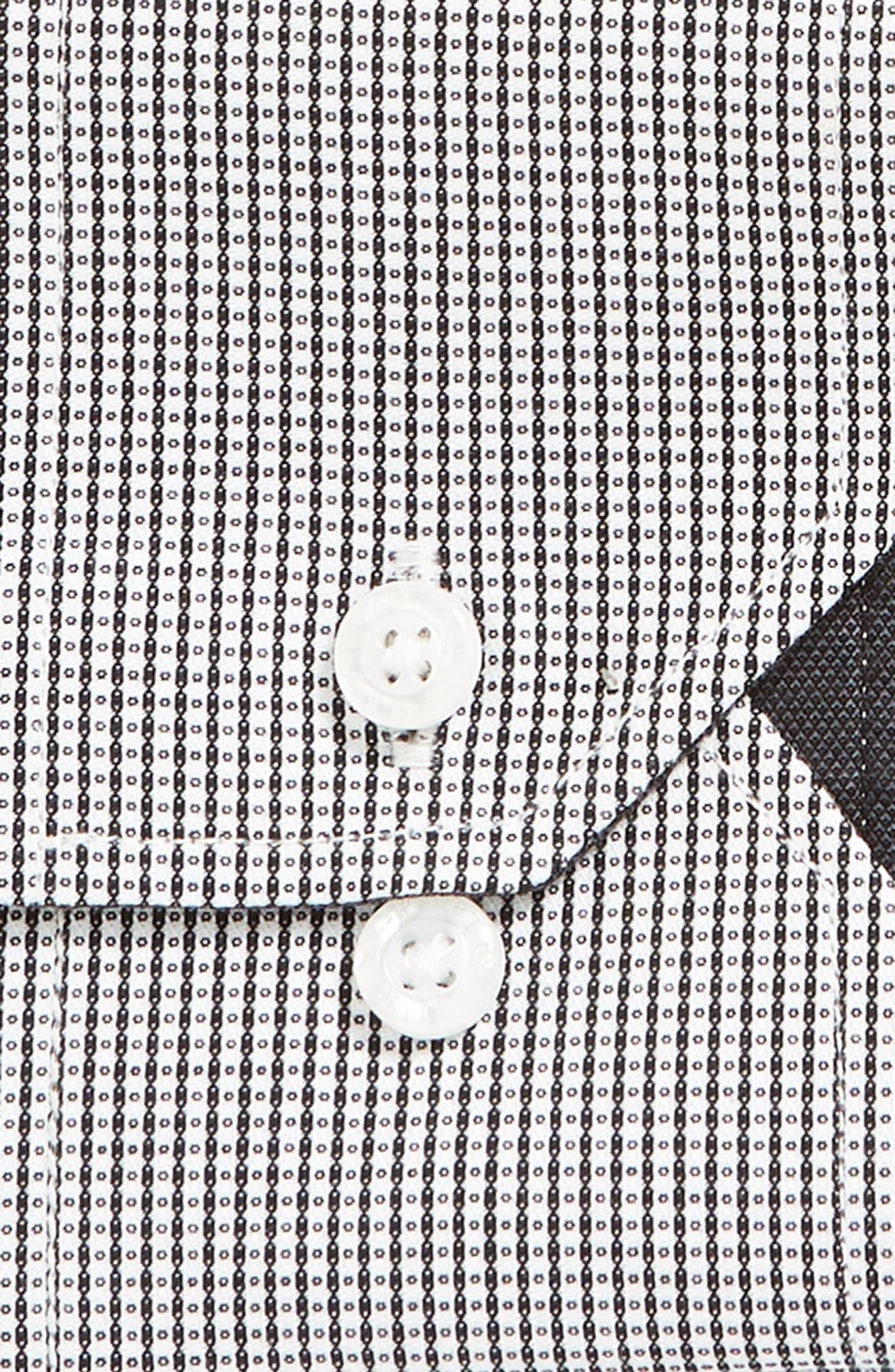 ENGLISH LAUNDRY,                             Regular Fit Check Dress Shirt,                             Alternate thumbnail 6, color,                             001