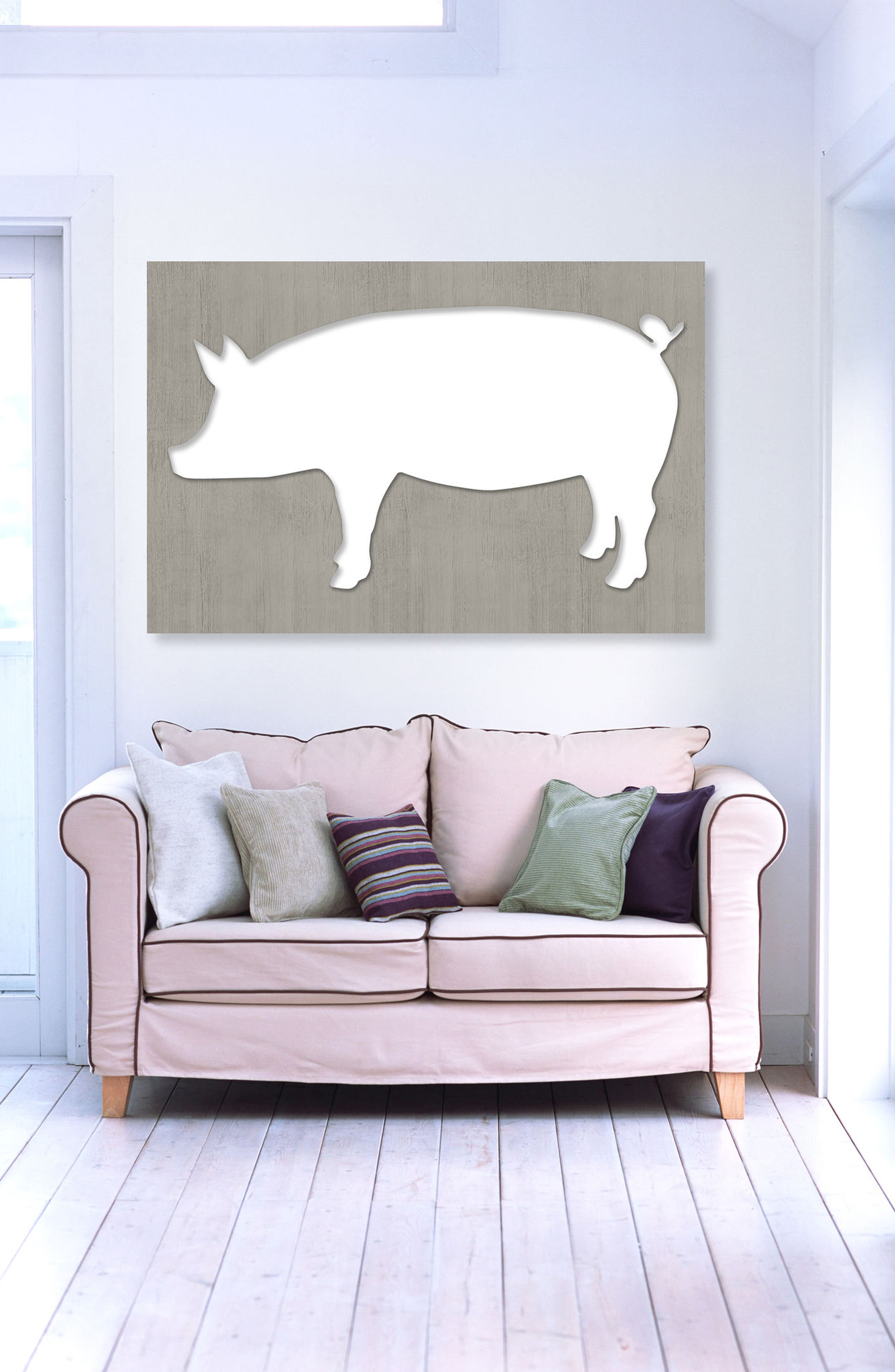 Pig Canvas Wall Art,                             Alternate thumbnail 2, color,                             BLUE