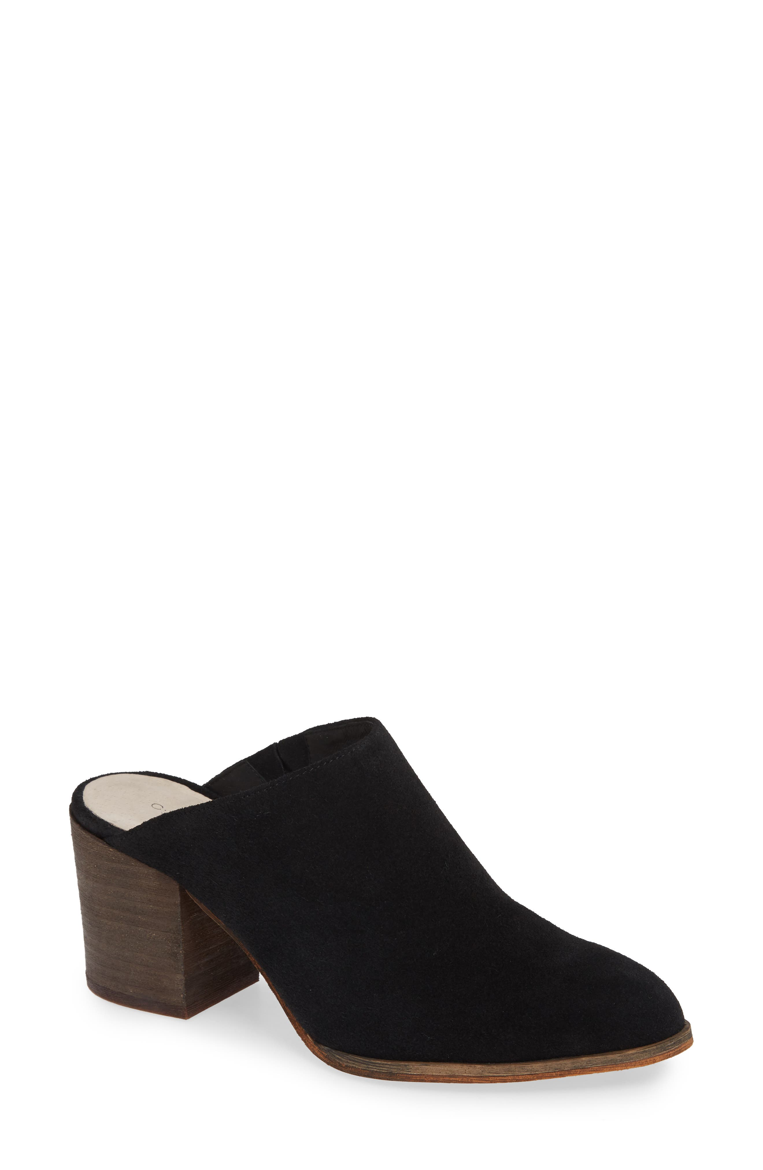 Miccah Mule,                             Main thumbnail 1, color,                             BLACK SUEDE