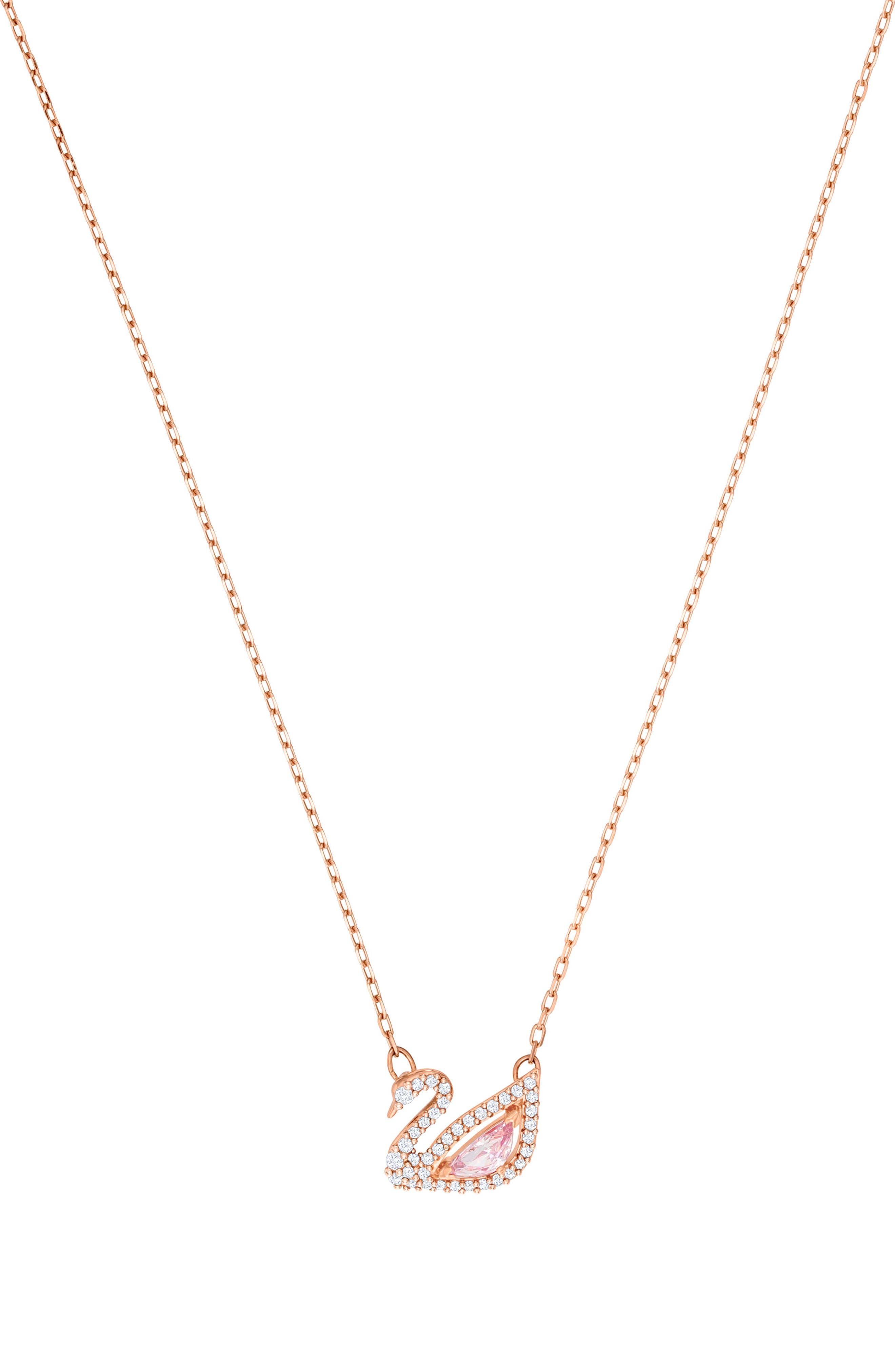 Swarovski Accessories Dazzling Swan Necklace