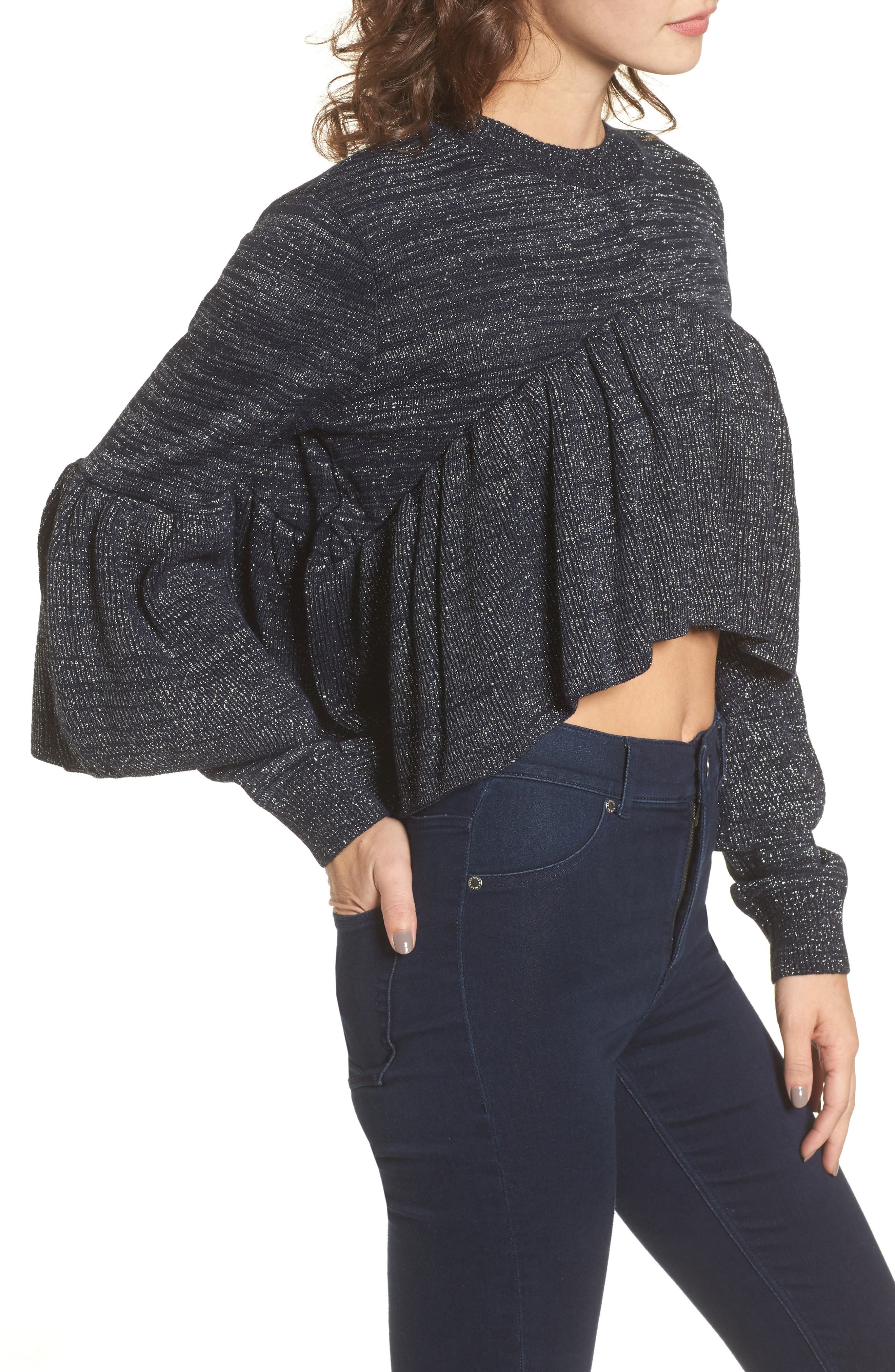 Ruffle Sweater,                             Alternate thumbnail 3, color,                             400