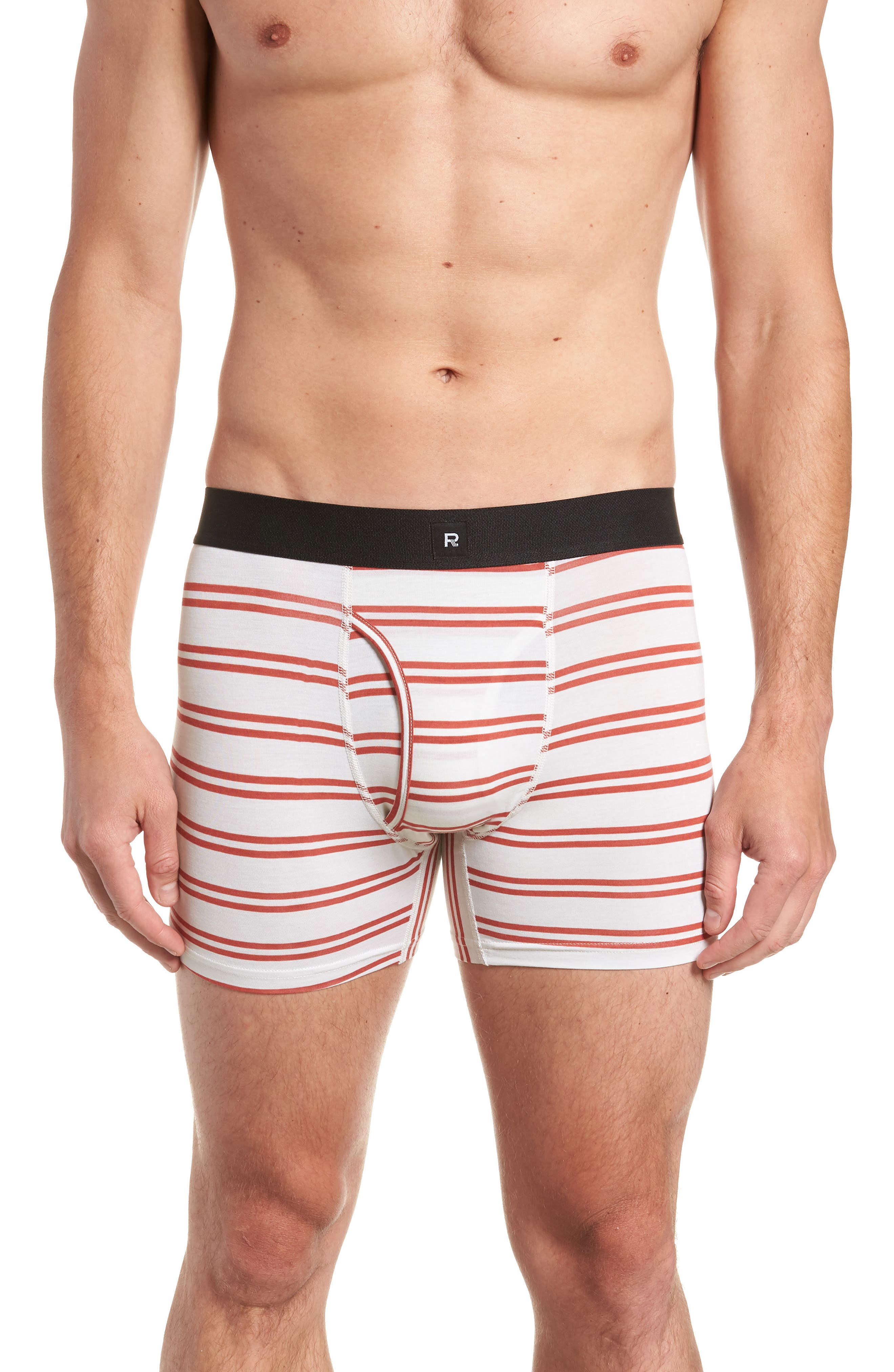Clark Modal Boxer Briefs,                             Main thumbnail 1, color,                             WHITE/ RED