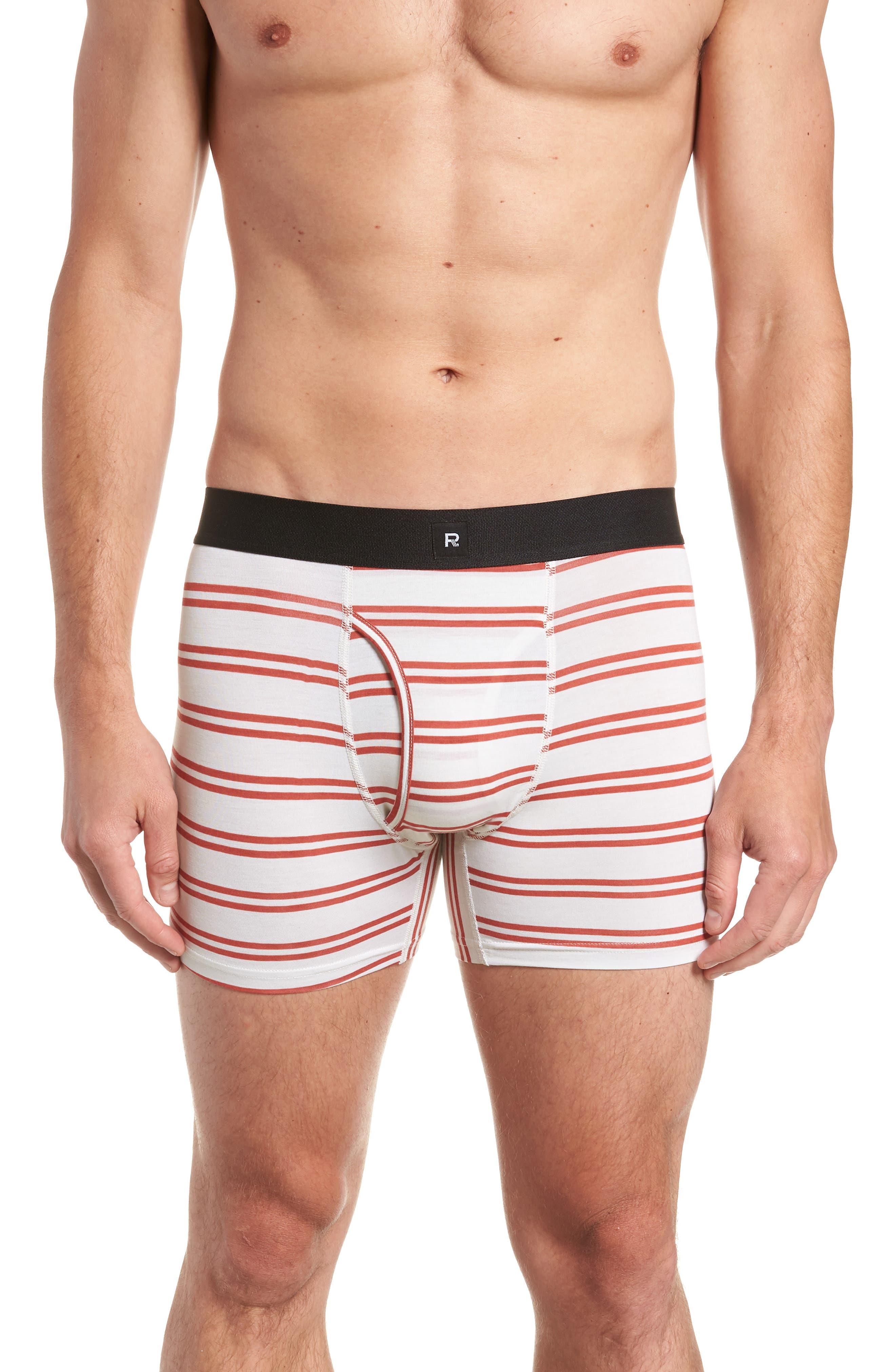 RICHER POORER Clark Modal Boxer Briefs in White/ Red