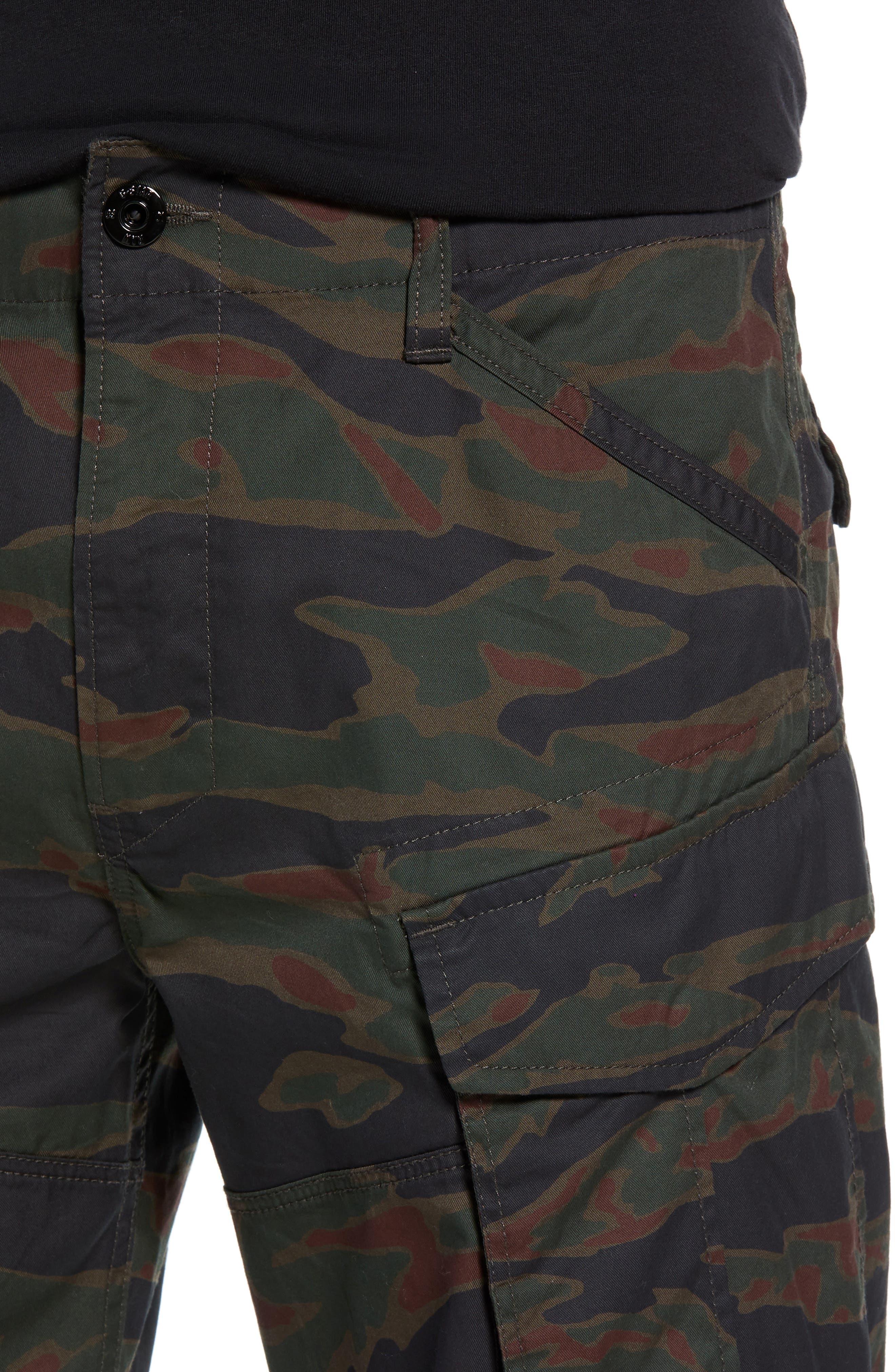 Rovic Tapered Cargo Pants,                             Alternate thumbnail 4, color,                             SMOKE GREEN/ DARK VERMO