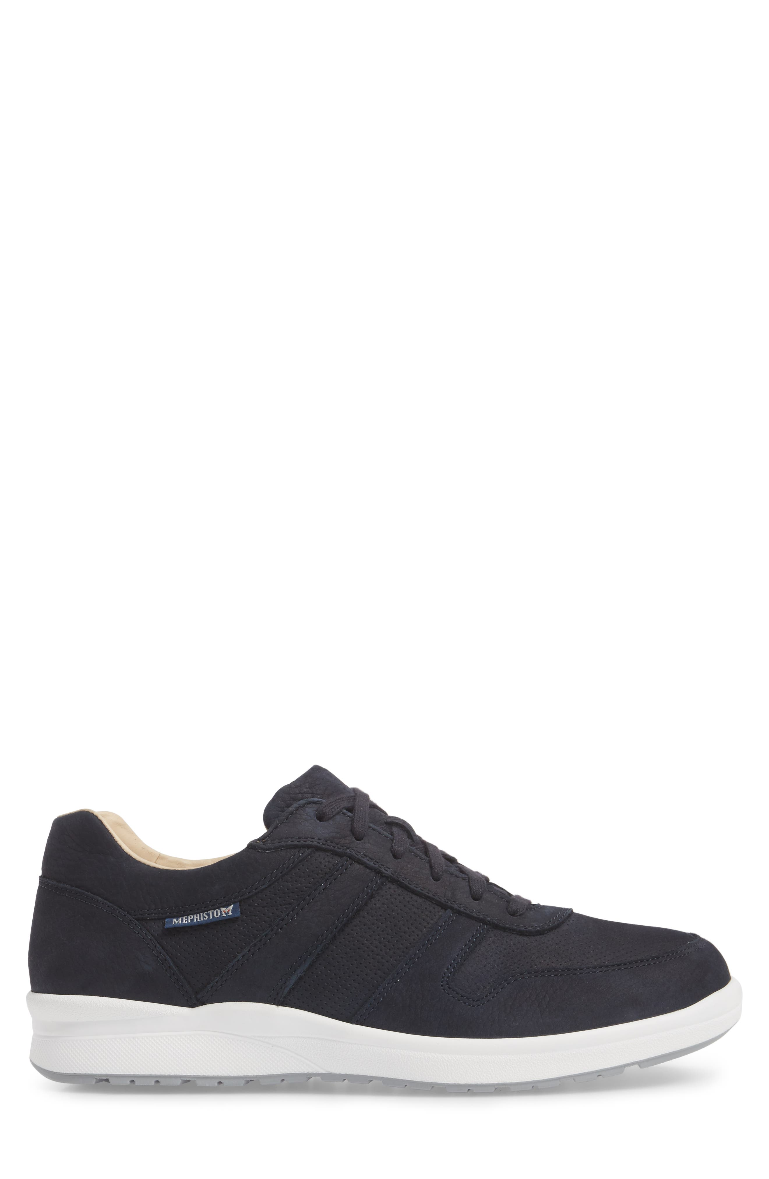 Vito Perforated Sneaker,                             Alternate thumbnail 3, color,                             NAVY