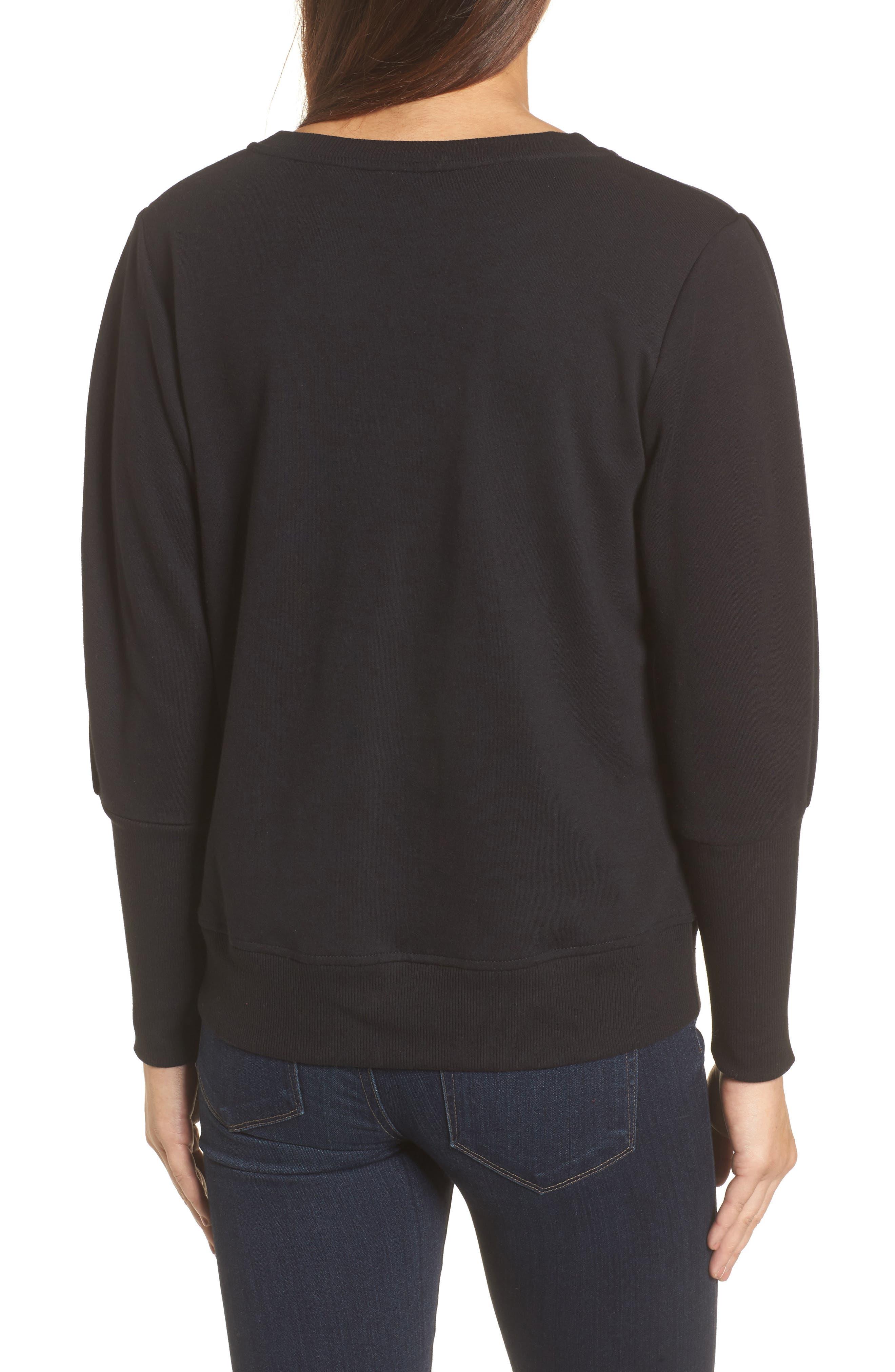 Blouson Sleeve Sweatshirt,                             Alternate thumbnail 2, color,                             001