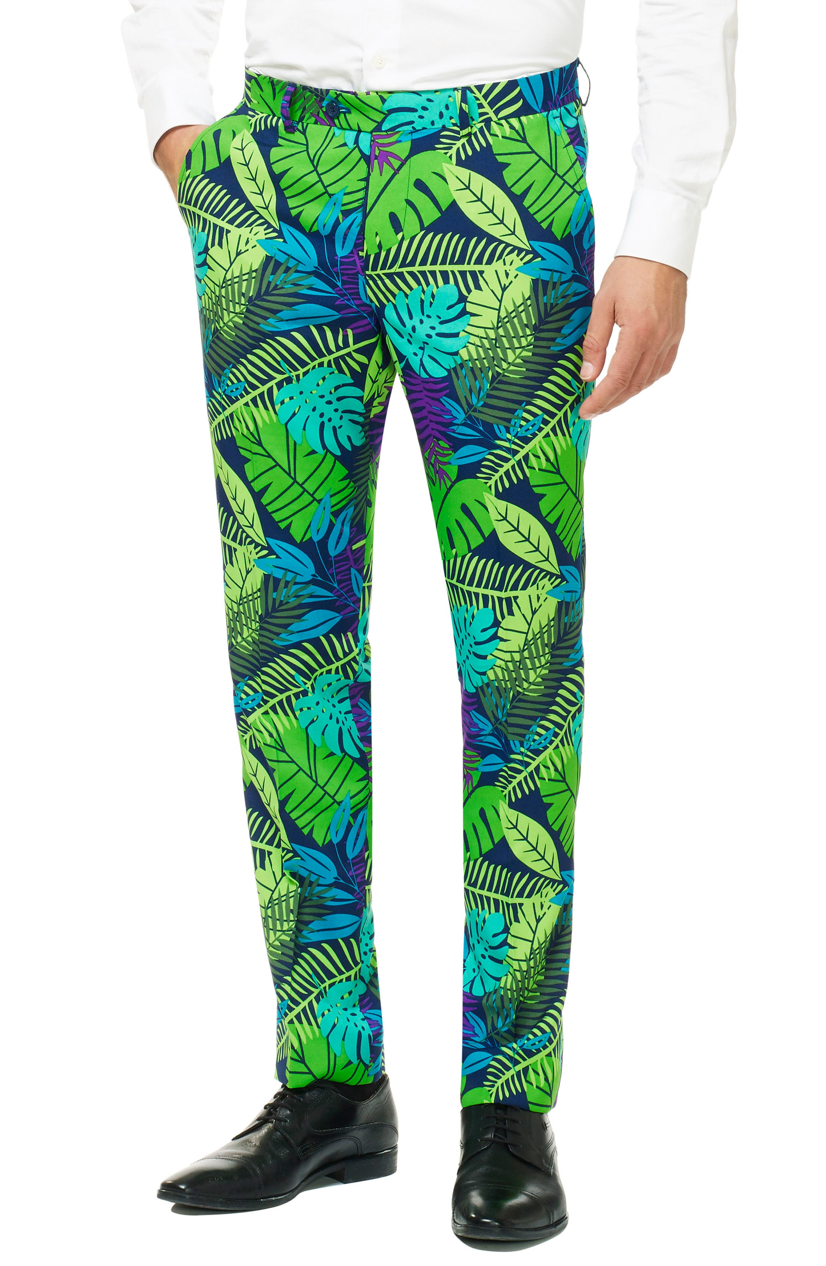 Juicy Jungle Trim Fit two-Piece Suit with Tie,                             Alternate thumbnail 3, color,                             MISCELLANEOUS