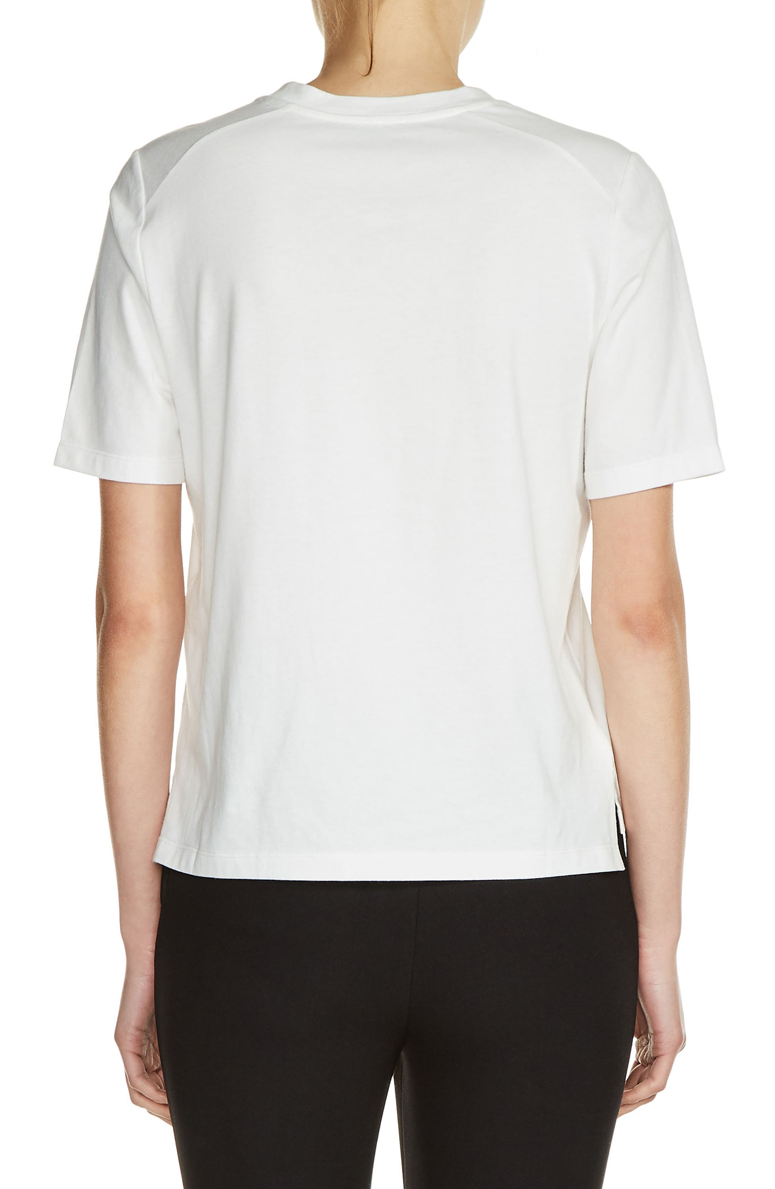 Embroidered Cotton V-Neck Tee,                             Alternate thumbnail 2, color,