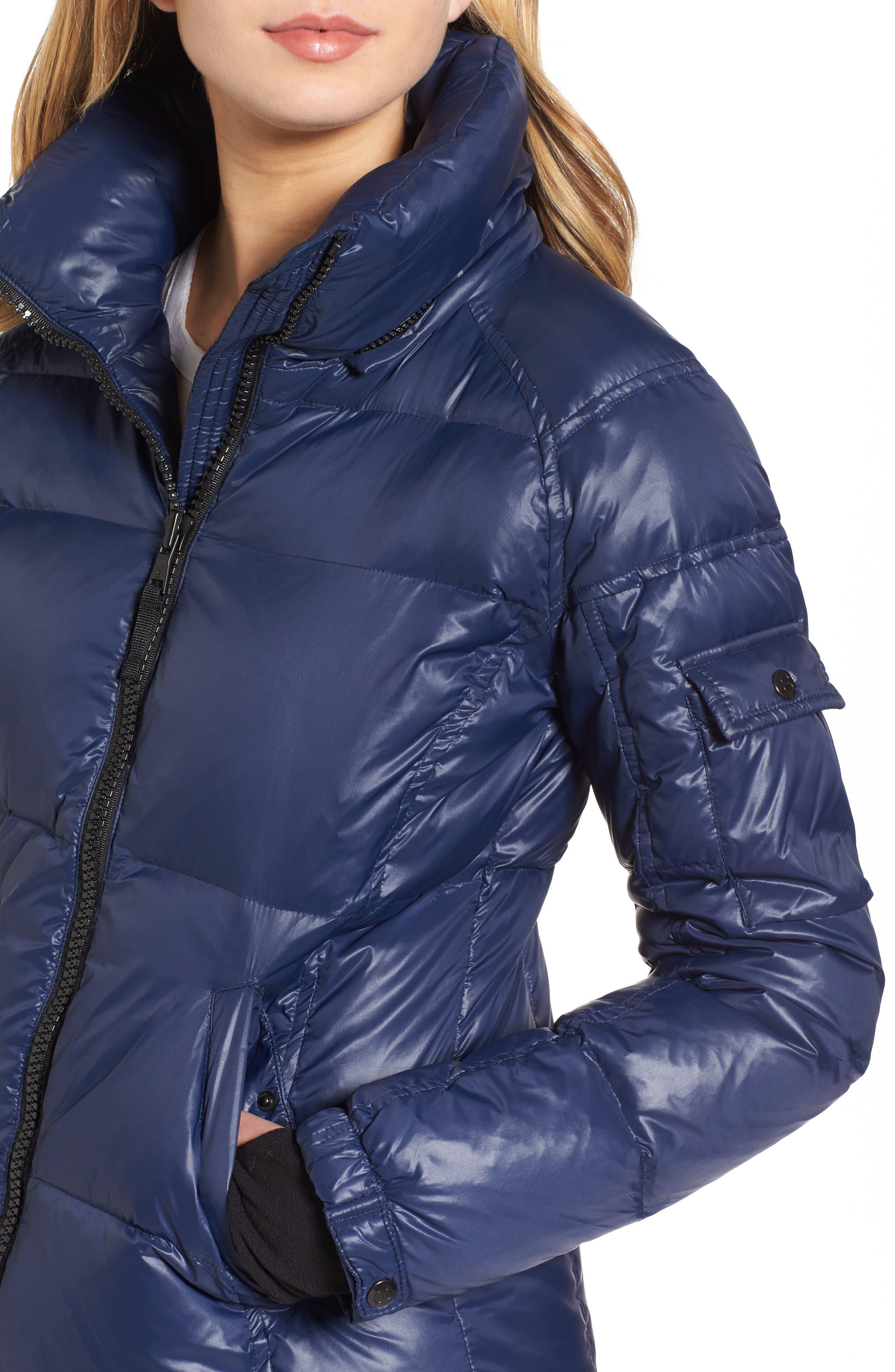 Kylie Faux Fur Trim Gloss Puffer Jacket,                             Alternate thumbnail 20, color,