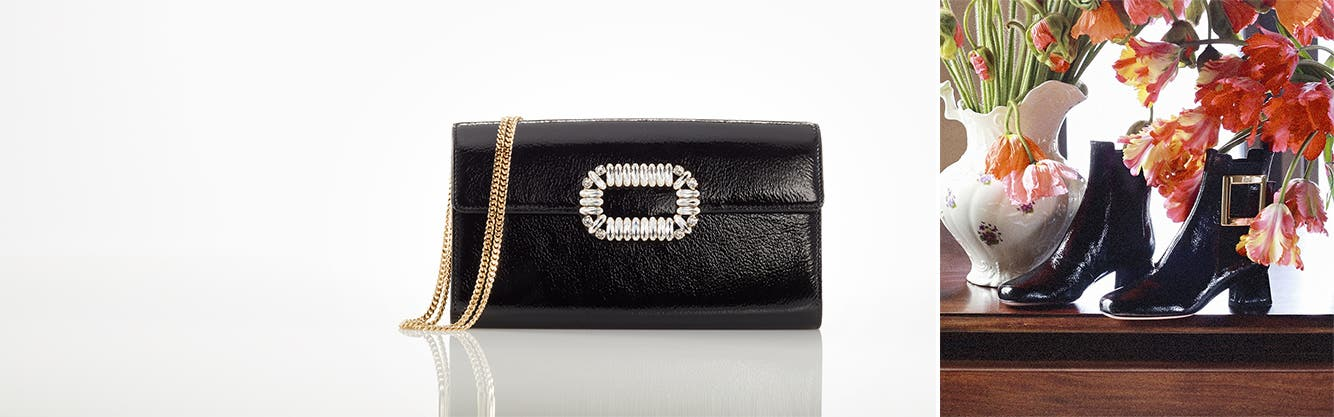 Roger Vivier handbags and accessories.