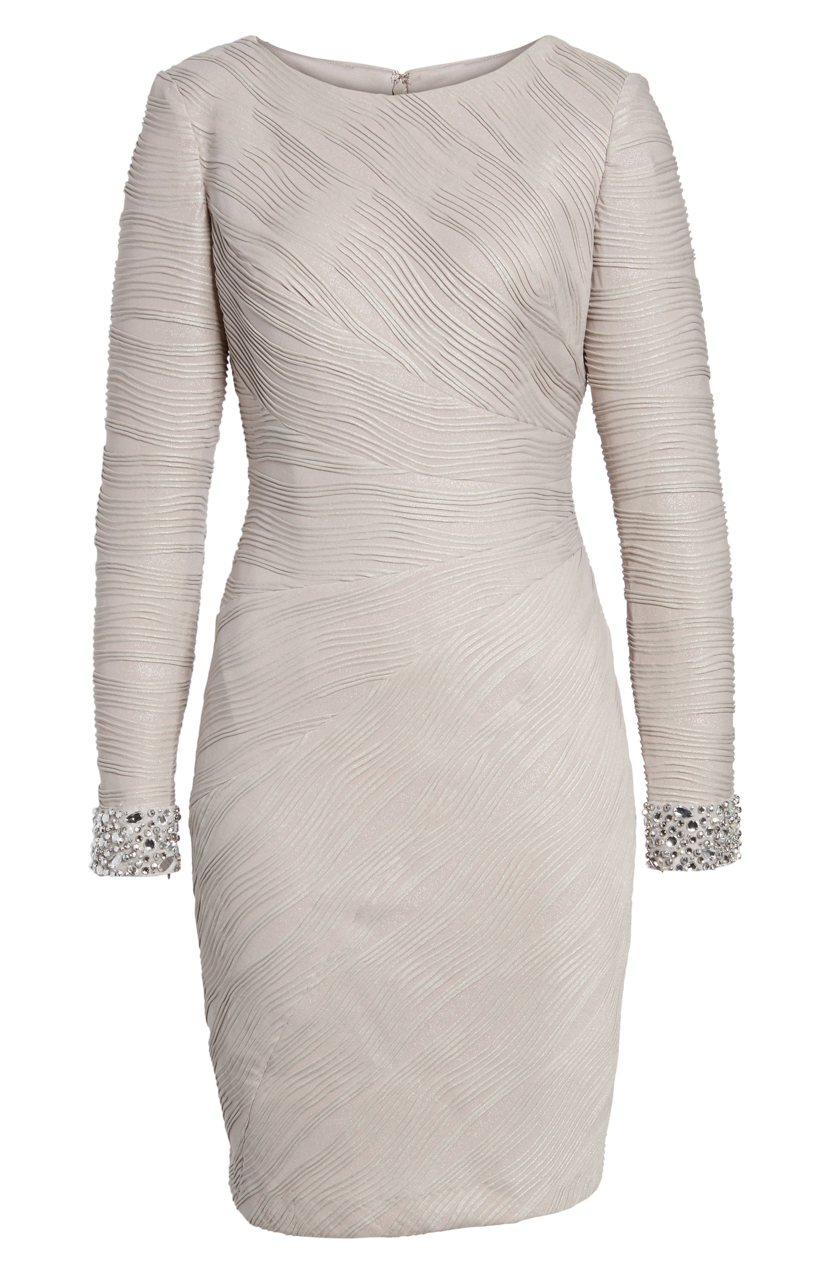 Embellished Sleeve Knit Sheath Dress,                         Main,                         color, 256