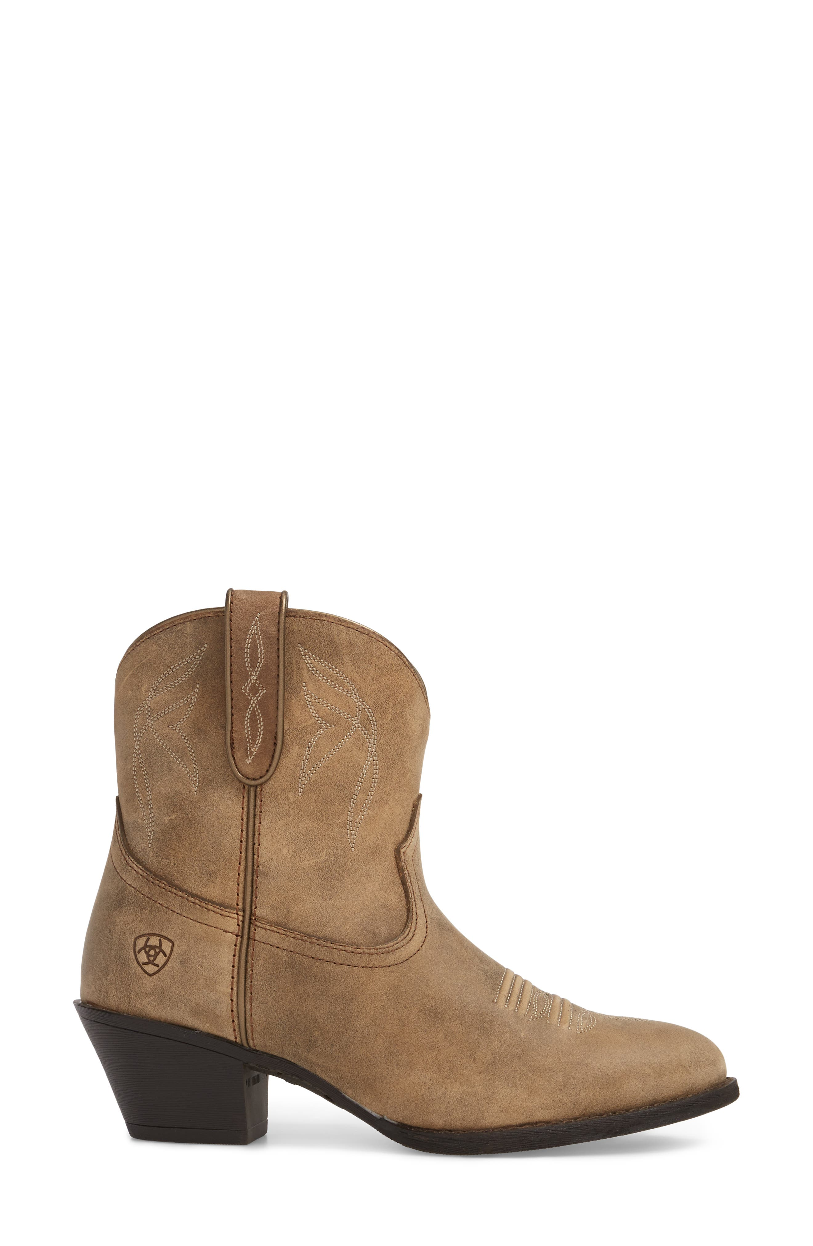 Darlin Short Western Boot,                             Alternate thumbnail 3, color,                             204