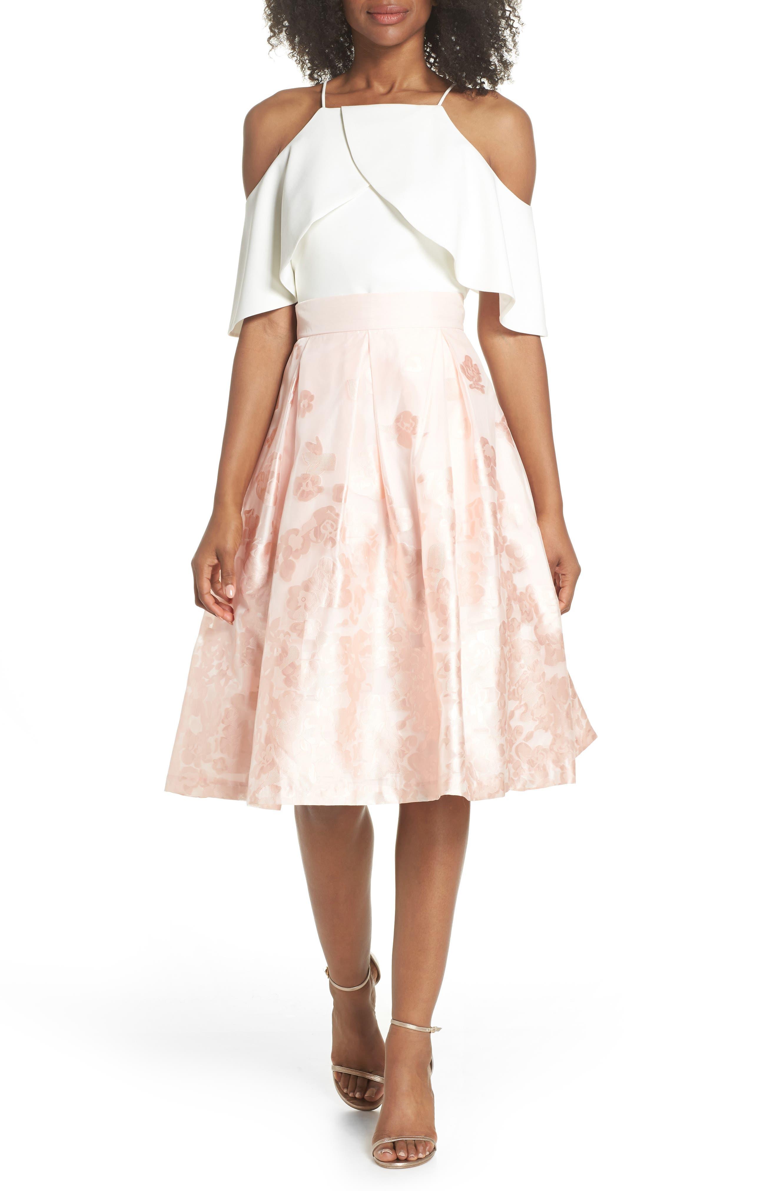 Jacquard A-Line Skirt,                             Alternate thumbnail 7, color,                             BLUSH