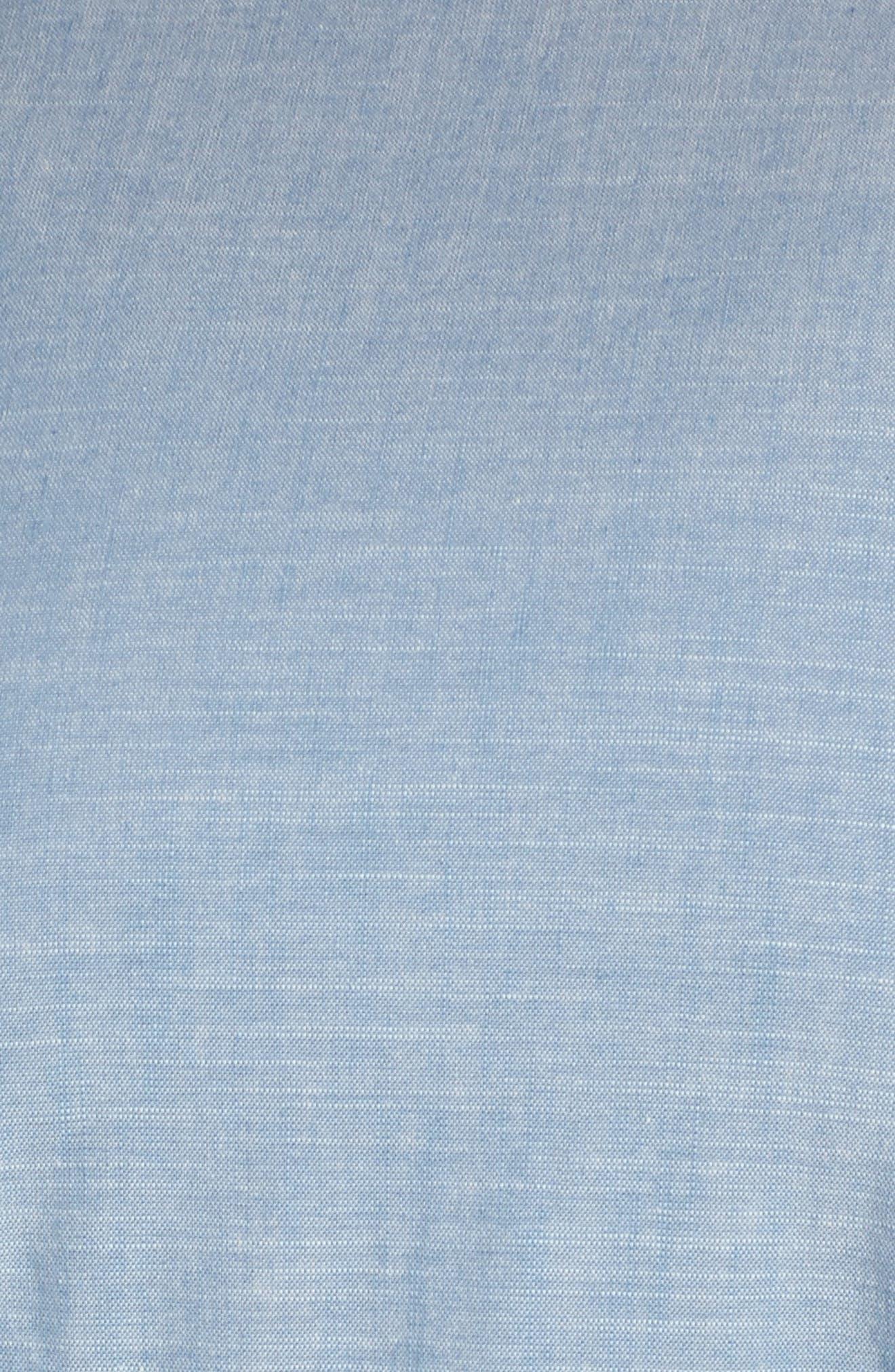 Ruffle Sleeve Jumpsuit,                             Alternate thumbnail 6, color,