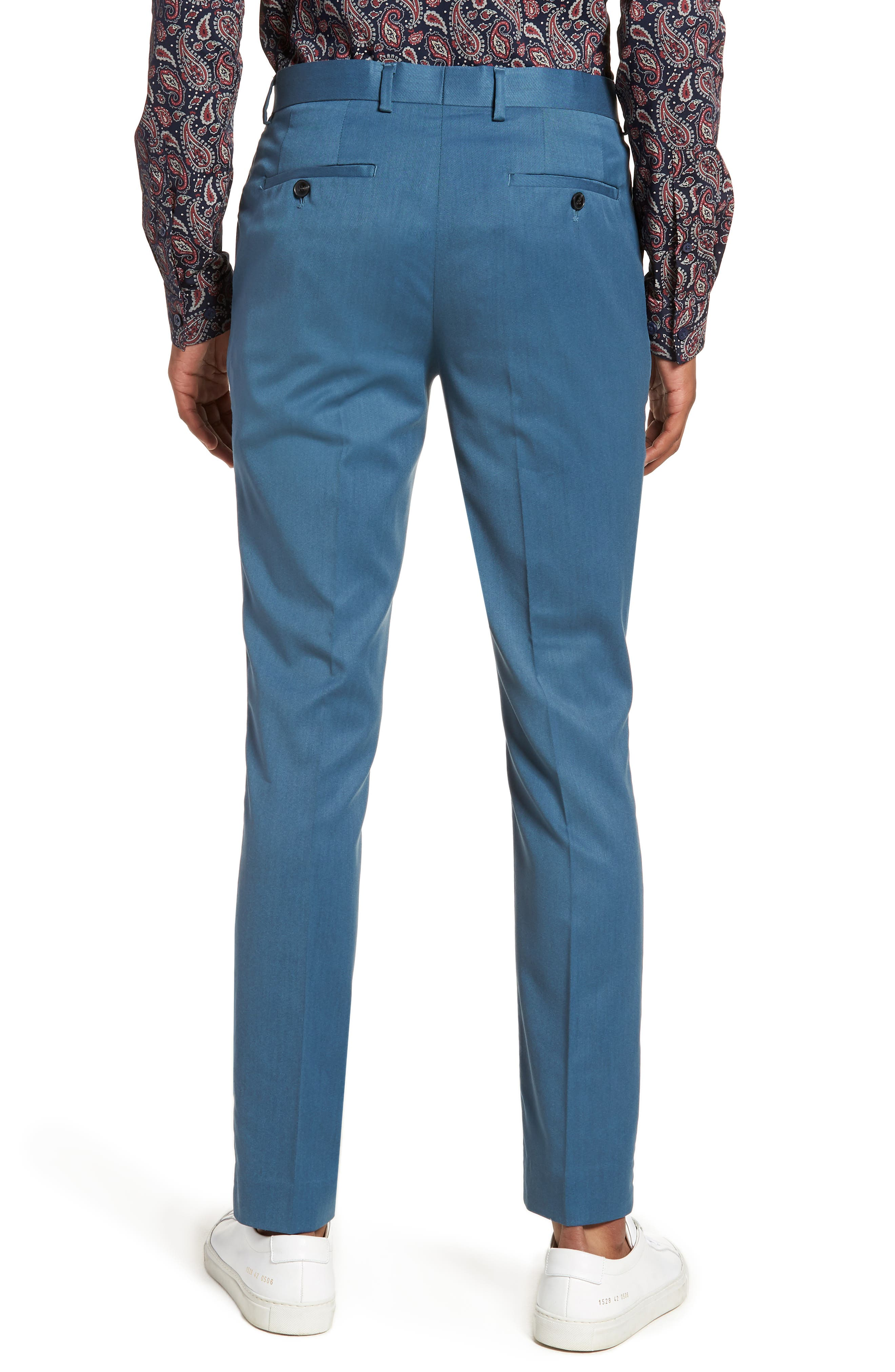 Skinny Fit Suit Trousers,                             Alternate thumbnail 2, color,                             450