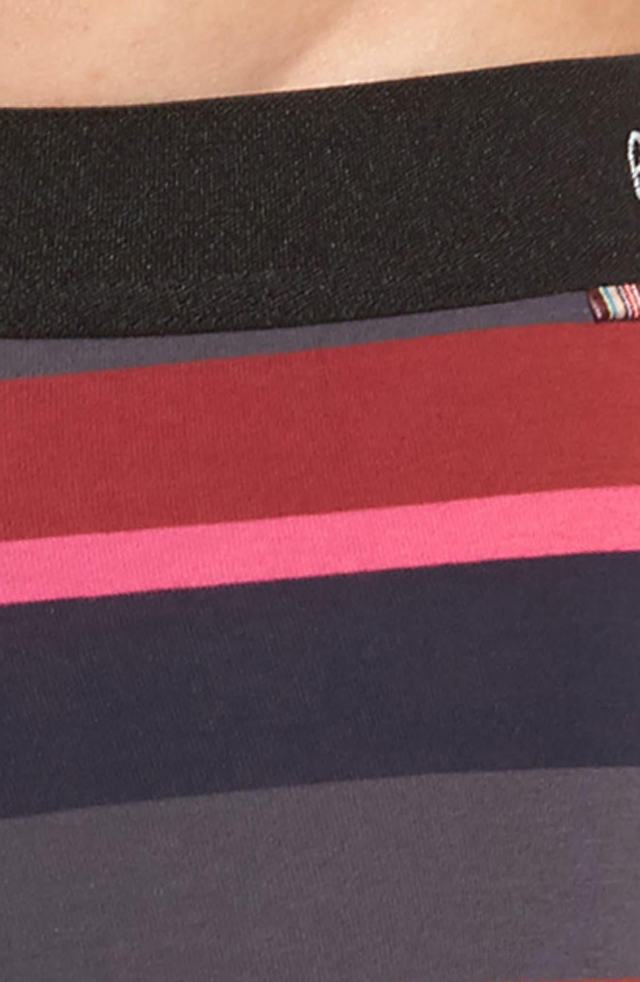 Multi Stripe Stretch Cotton Trunks,                             Alternate thumbnail 4, color,                             415